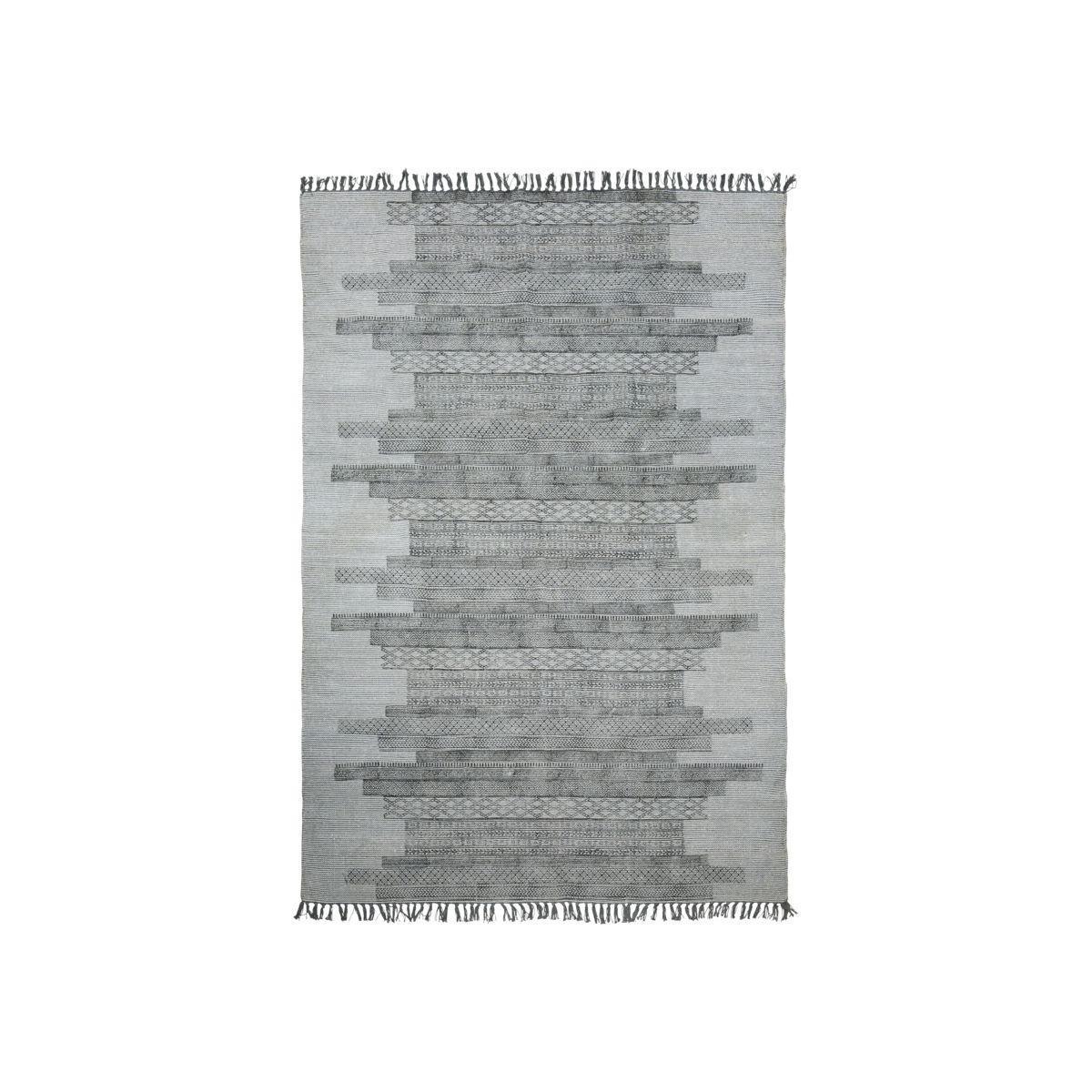 House Doctor Bavlněný koberec Karma Grey 160x230 cm, šedá barva, textil