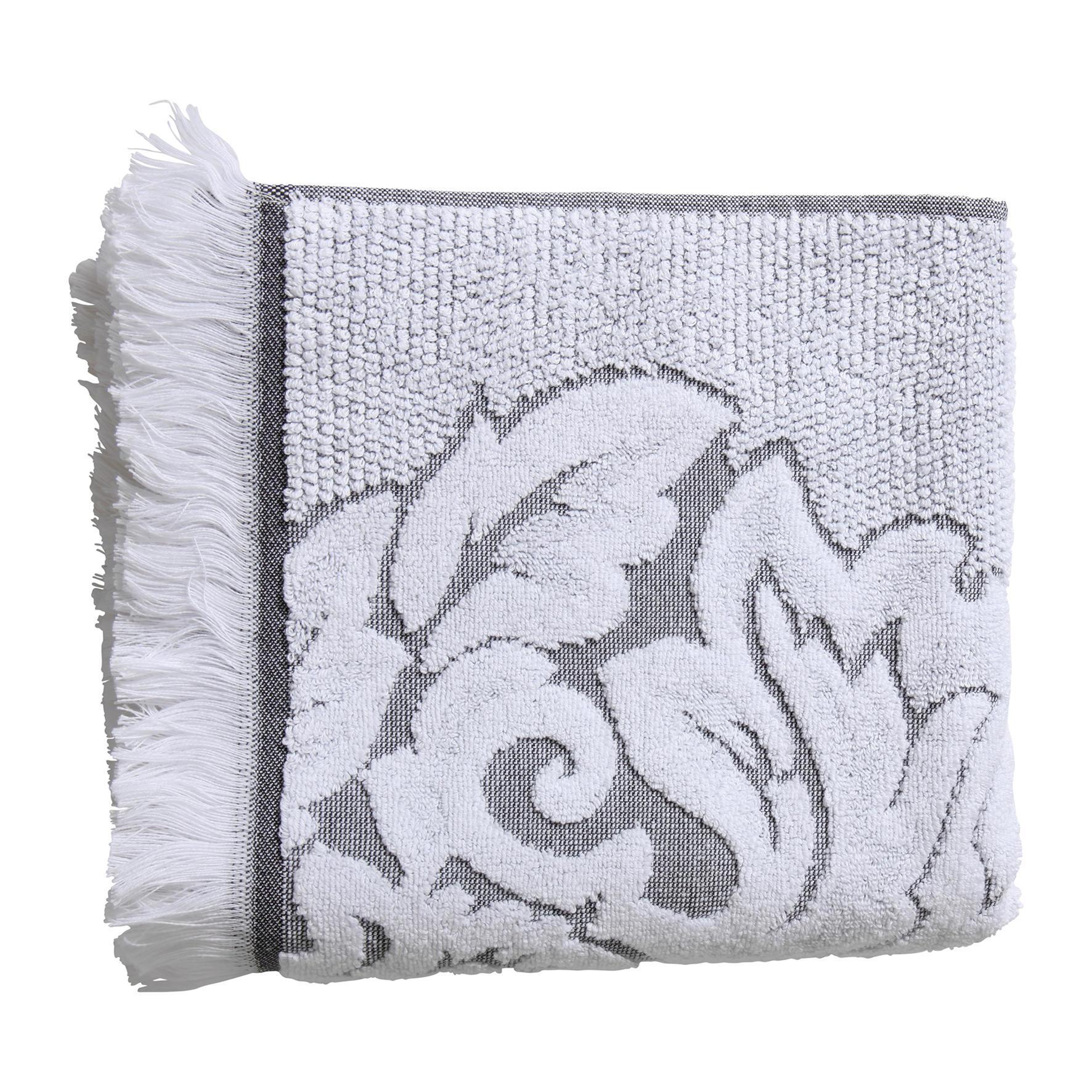 Côté Table Froté ručník Mona Gris/blanc 50x100 cm