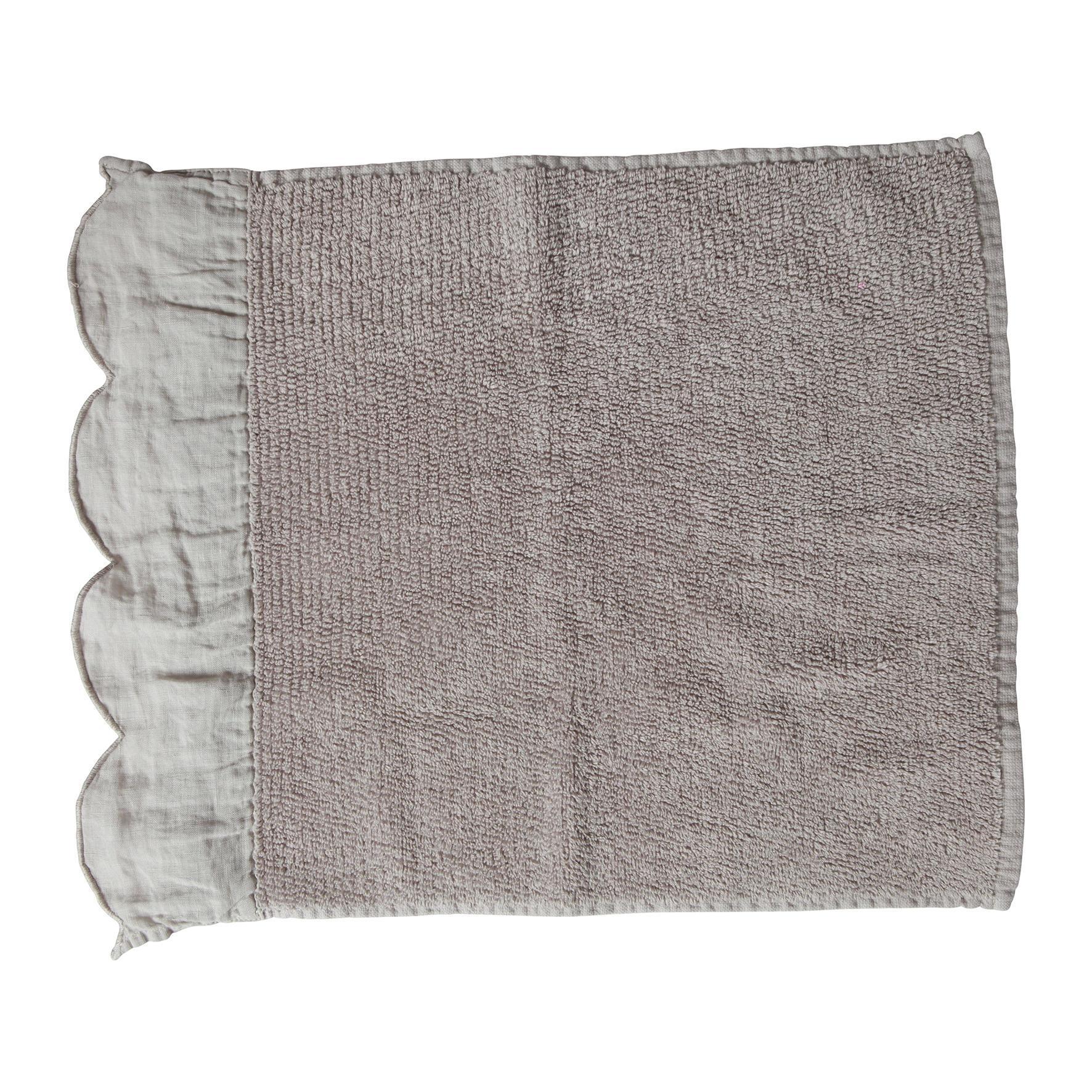 CÔTÉ TABLE Froté ručník Fris Gris 55x90 cm, béžová barva, šedá barva, textil