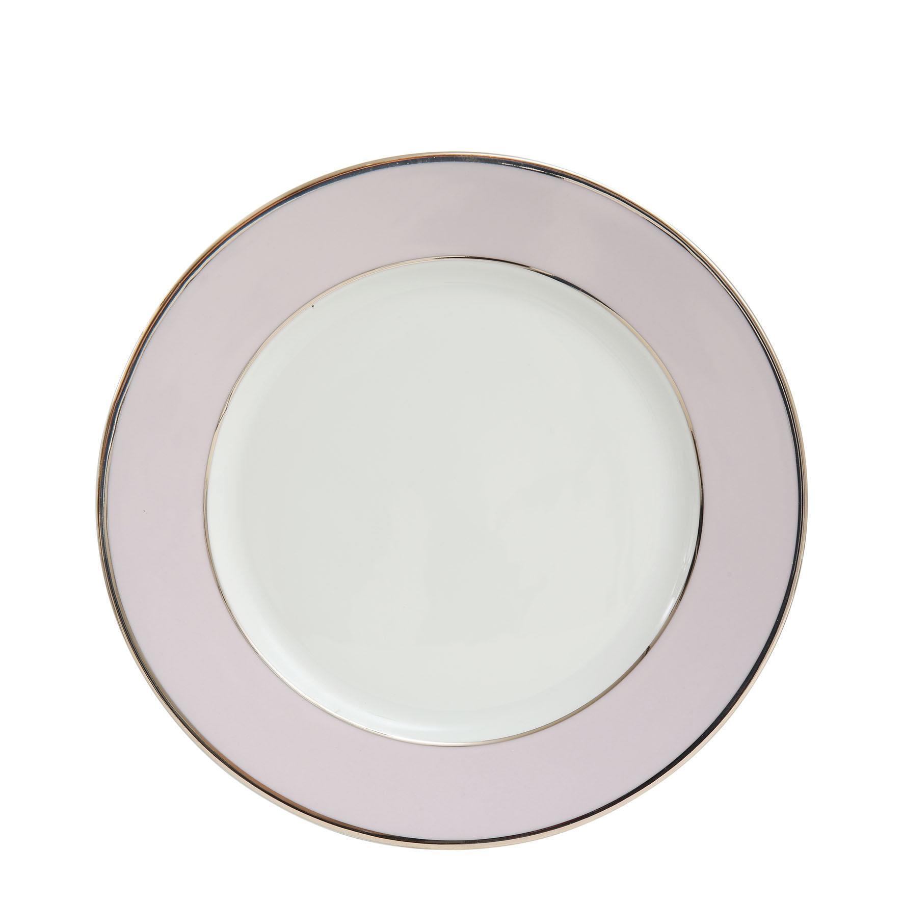 CÔTÉ TABLE Porcelánový talíř Ginger Rose - 27cm, růžová barva, fialová barva, porcelán