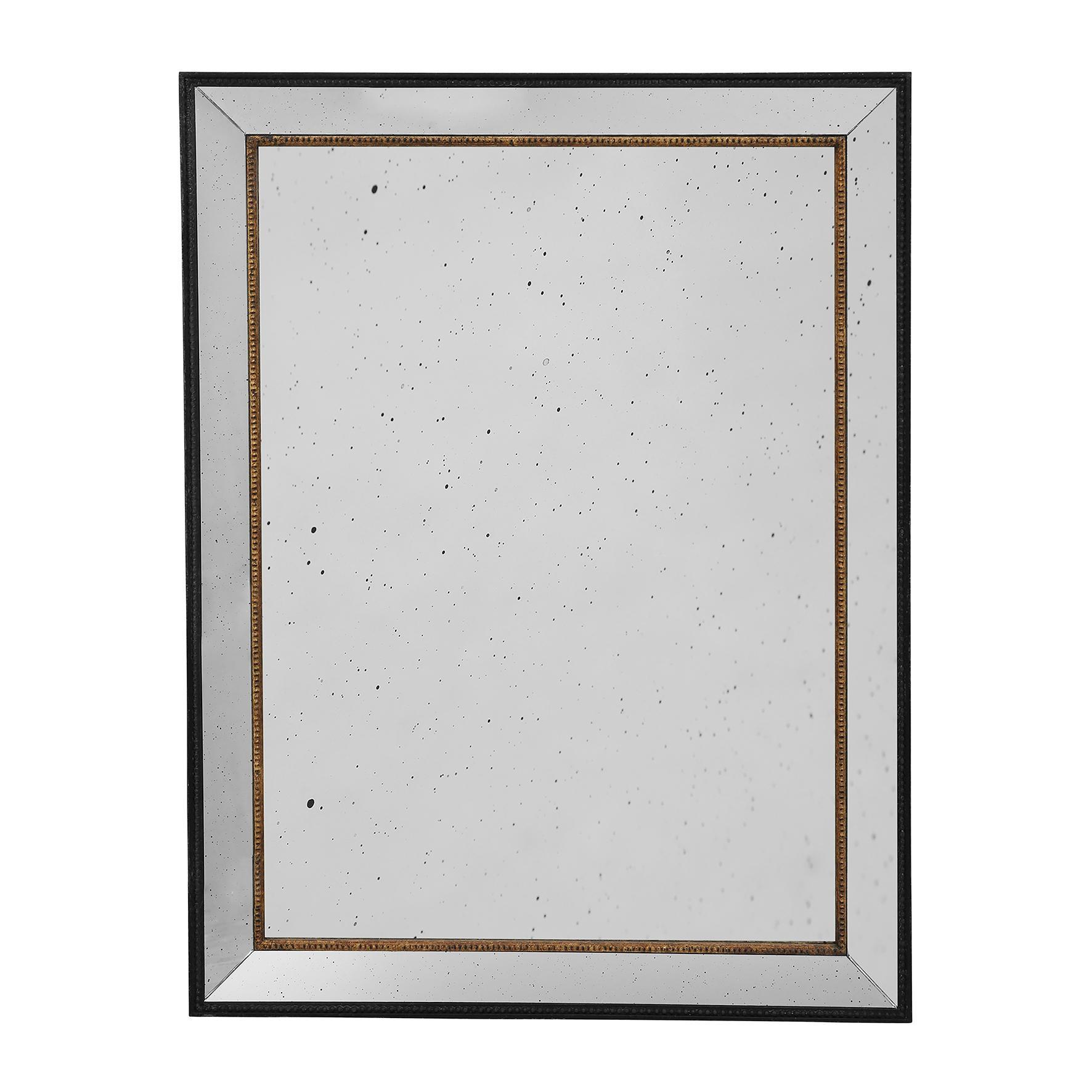CÔTÉ TABLE Zrcadlo Antique brozne, zlatá barva, sklo, dřevo