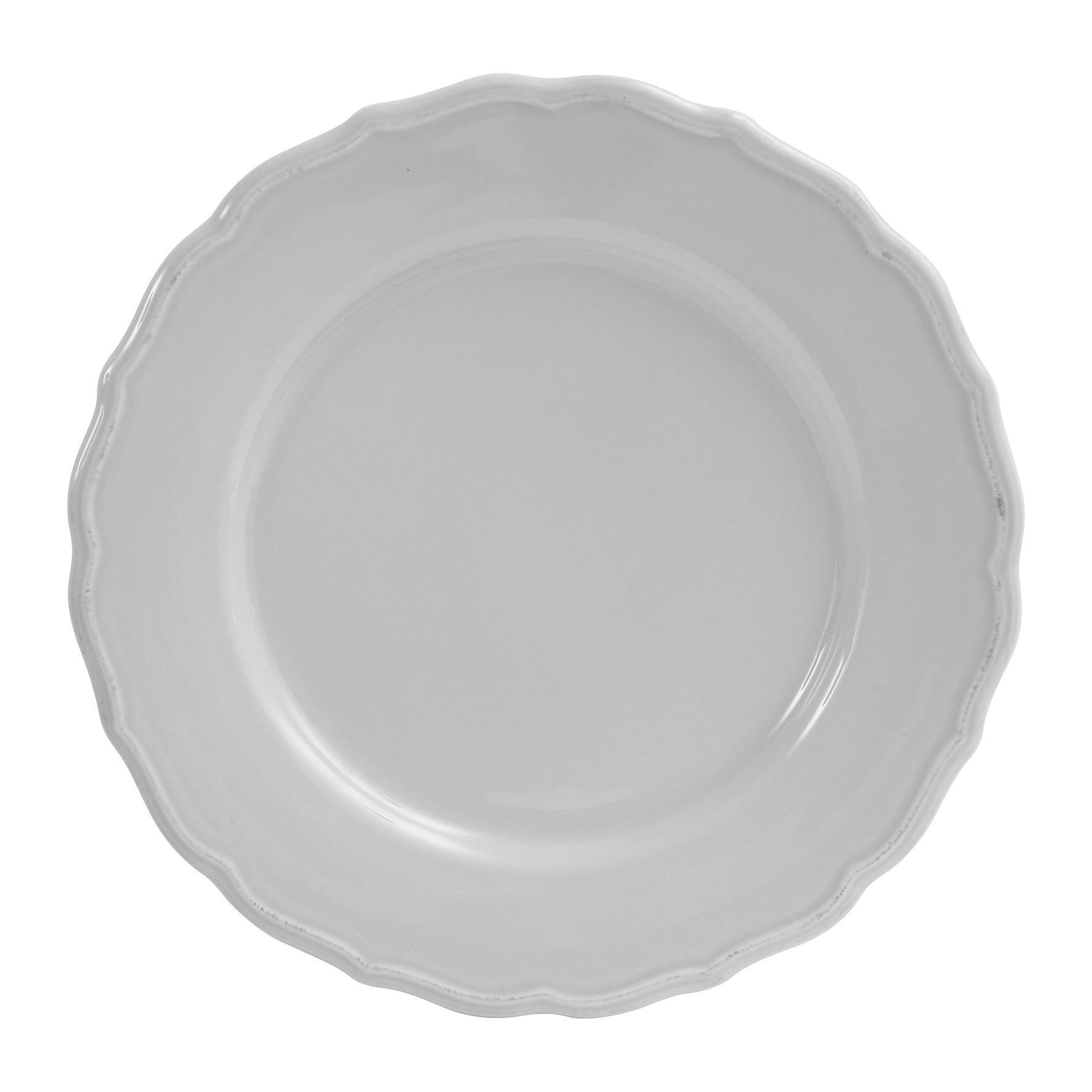 CÔTÉ TABLE Dezertní talíř Carole gris, šedá barva, keramika