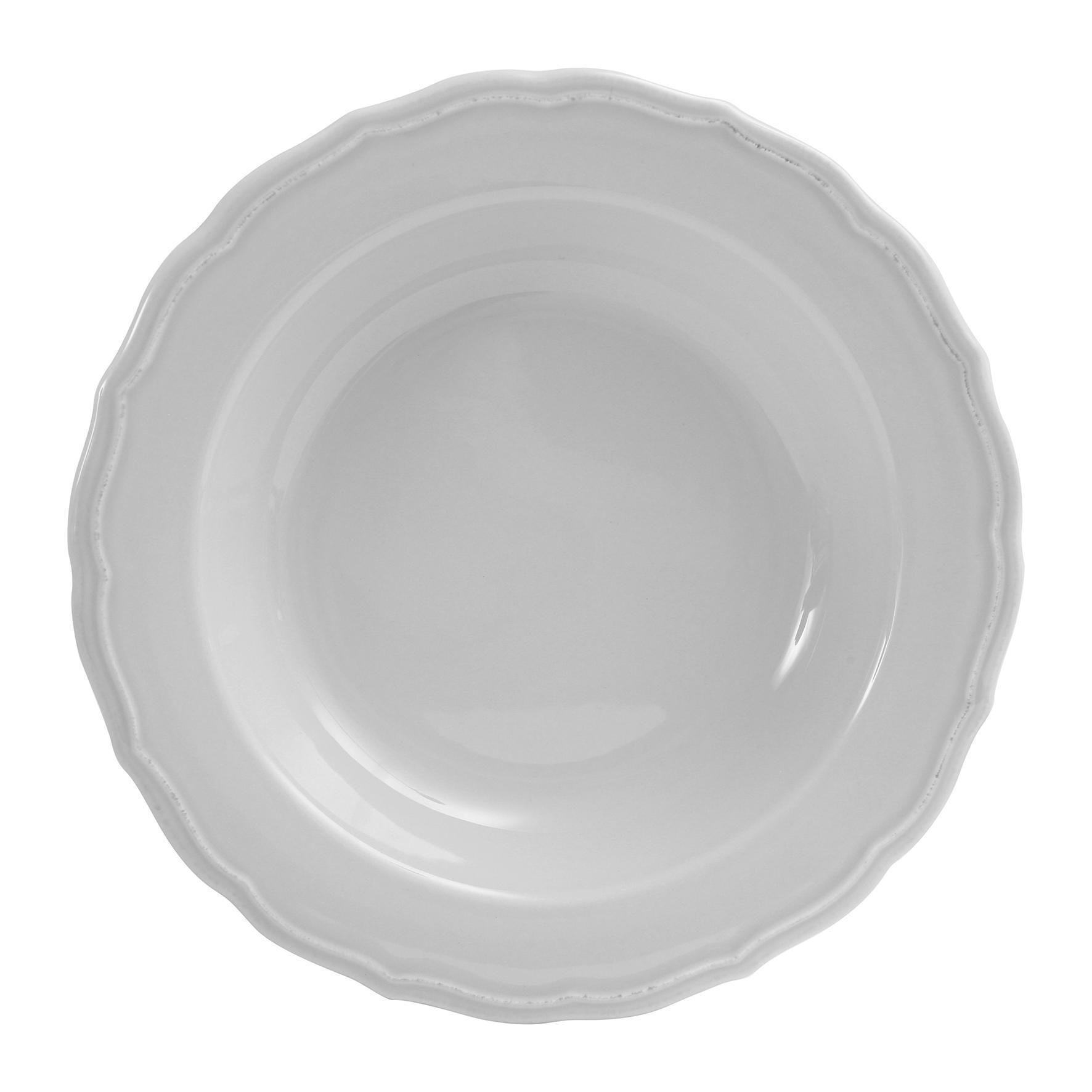 CÔTÉ TABLE Hluboký talíř Carole gris, šedá barva, keramika
