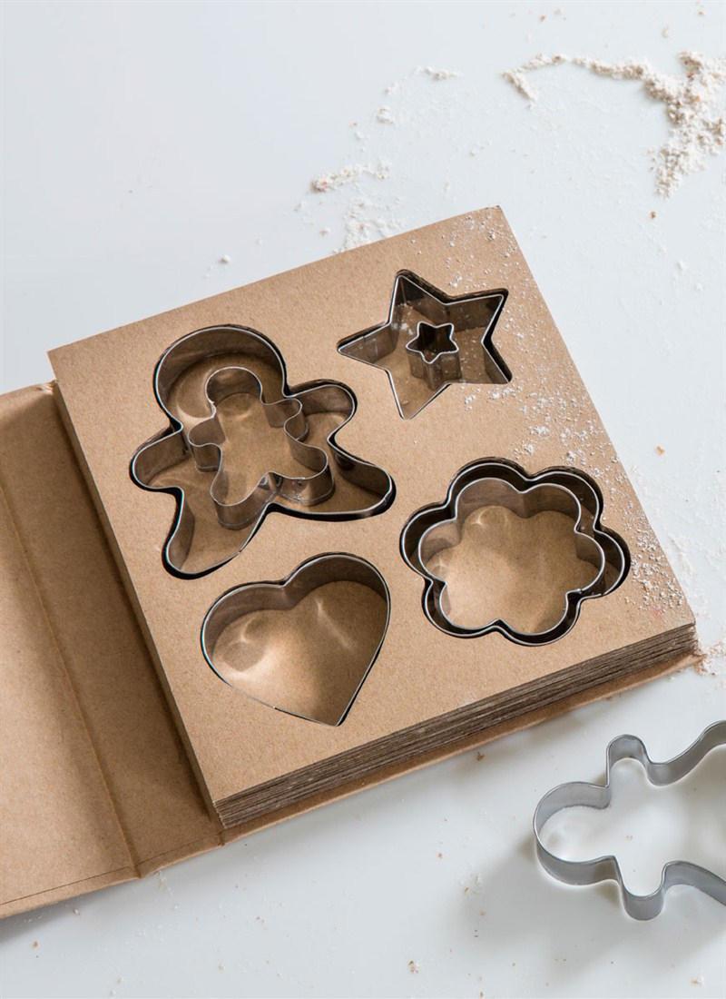 Garden Trading Nerez vykrajovátka na sušenky - set 12 ks, hnědá barva, stříbrná barva, kov
