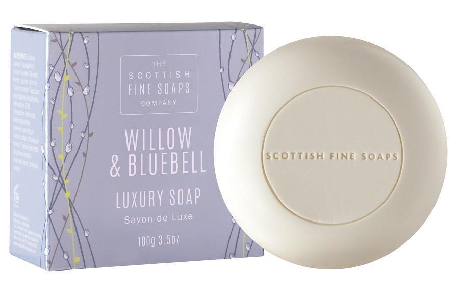 SCOTTISH FINE SOAPS Luxusní mýdlo Willow & Bluebell 100 g, modrá barva, papír