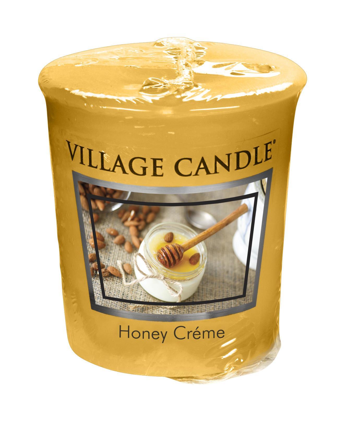 VILLAGE CANDLE Votivní svíčka Village Candle - Honey Créme, žlutá barva, oranžová barva, hnědá barva, vosk