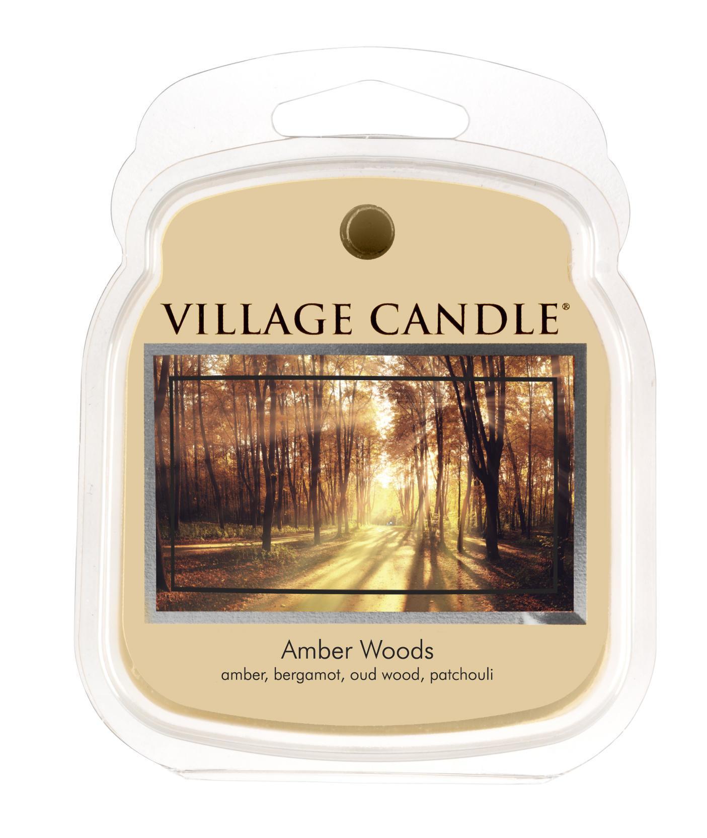 VILLAGE CANDLE Vosk do aromalampy Amber Woods, béžová barva, vosk