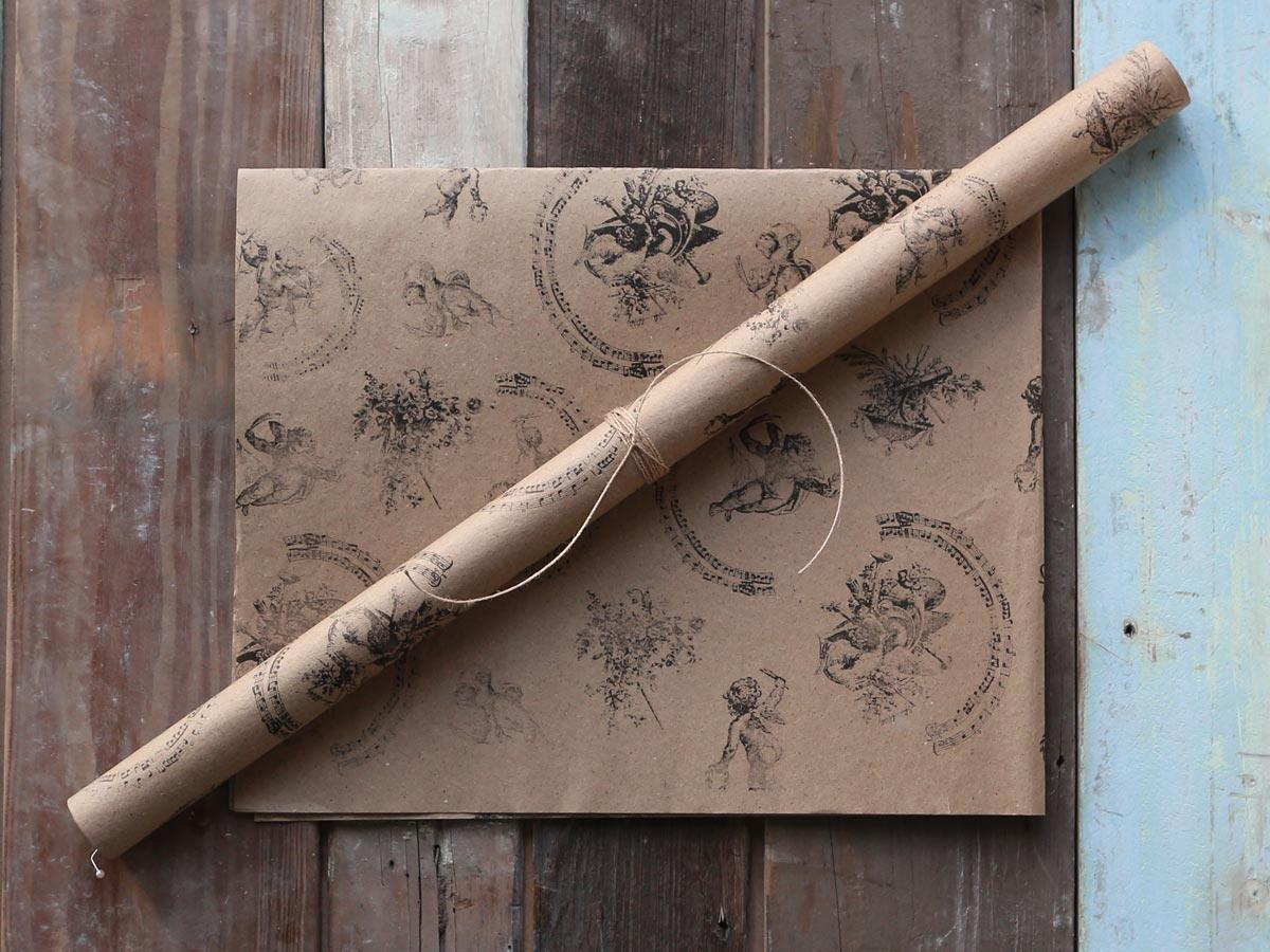 Chic Antique Dárkový balící papír Angels, hnědá barva, papír