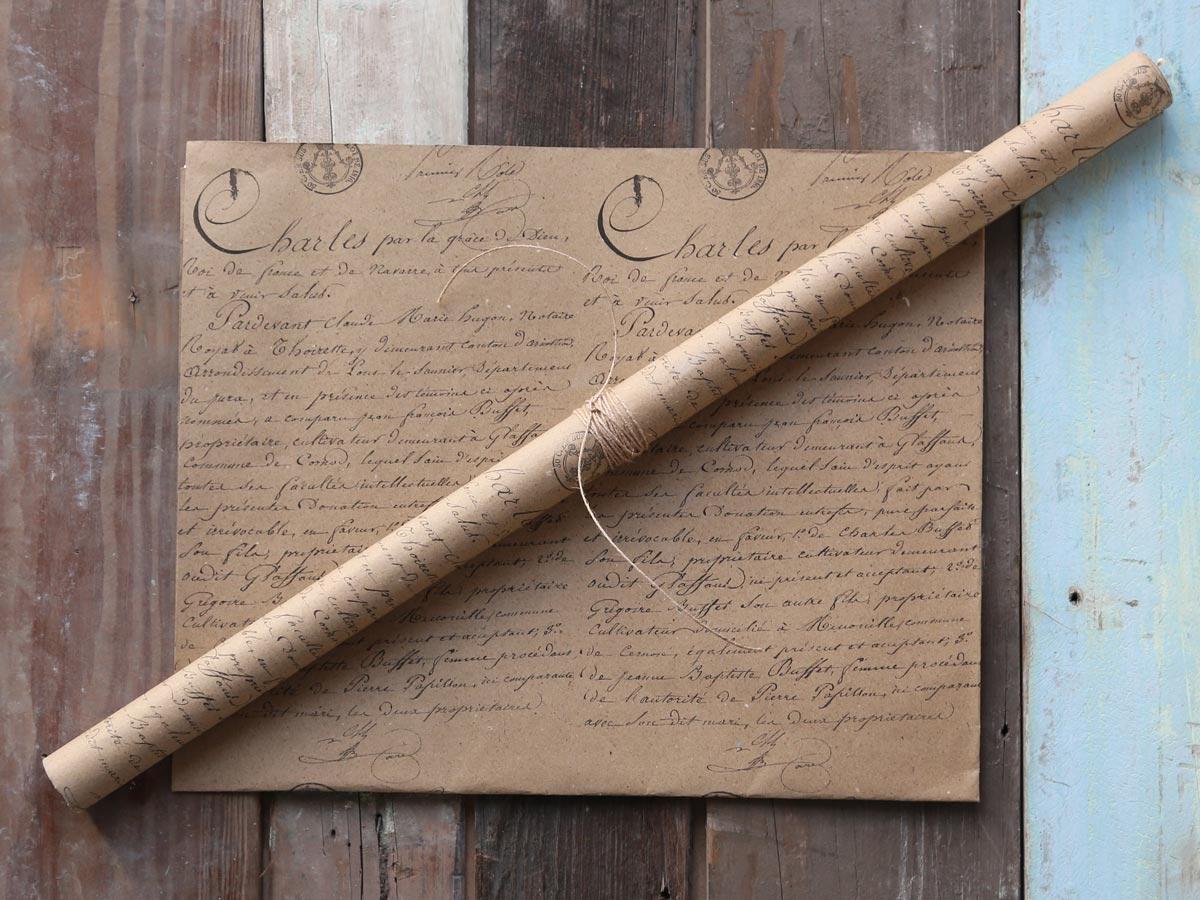 Chic Antique Dárkový balící papír French, hnědá barva, papír