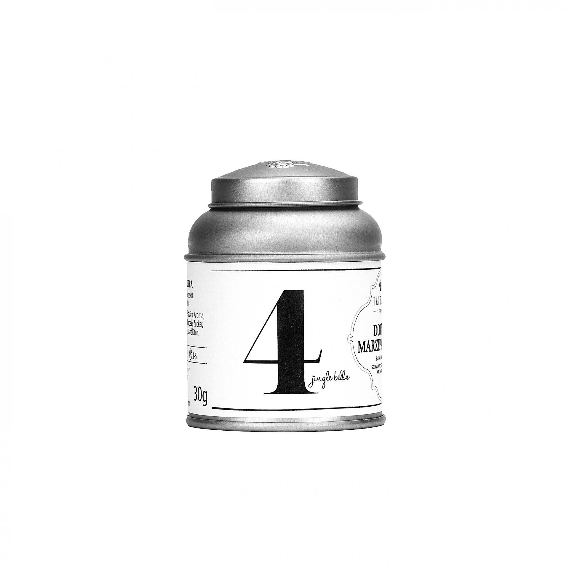 TAFELGUT Mini černý čaj Advent 4 - 30gr, černá barva, bílá barva, kov