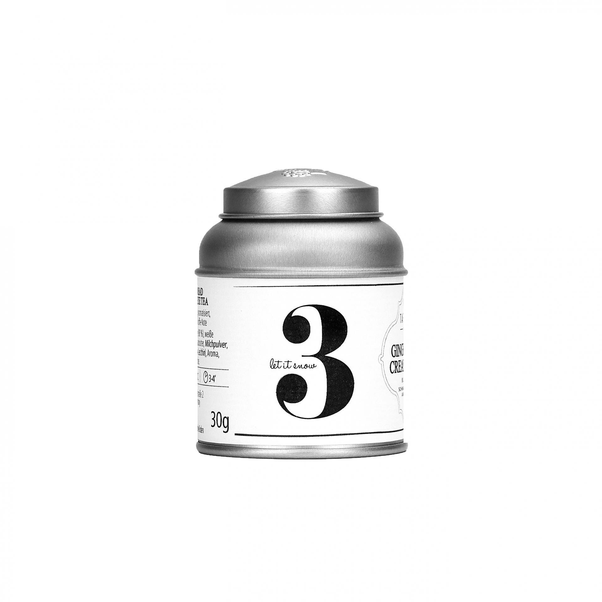 TAFELGUT Mini černý čaj Advent 3 - 30gr, černá barva, bílá barva, kov