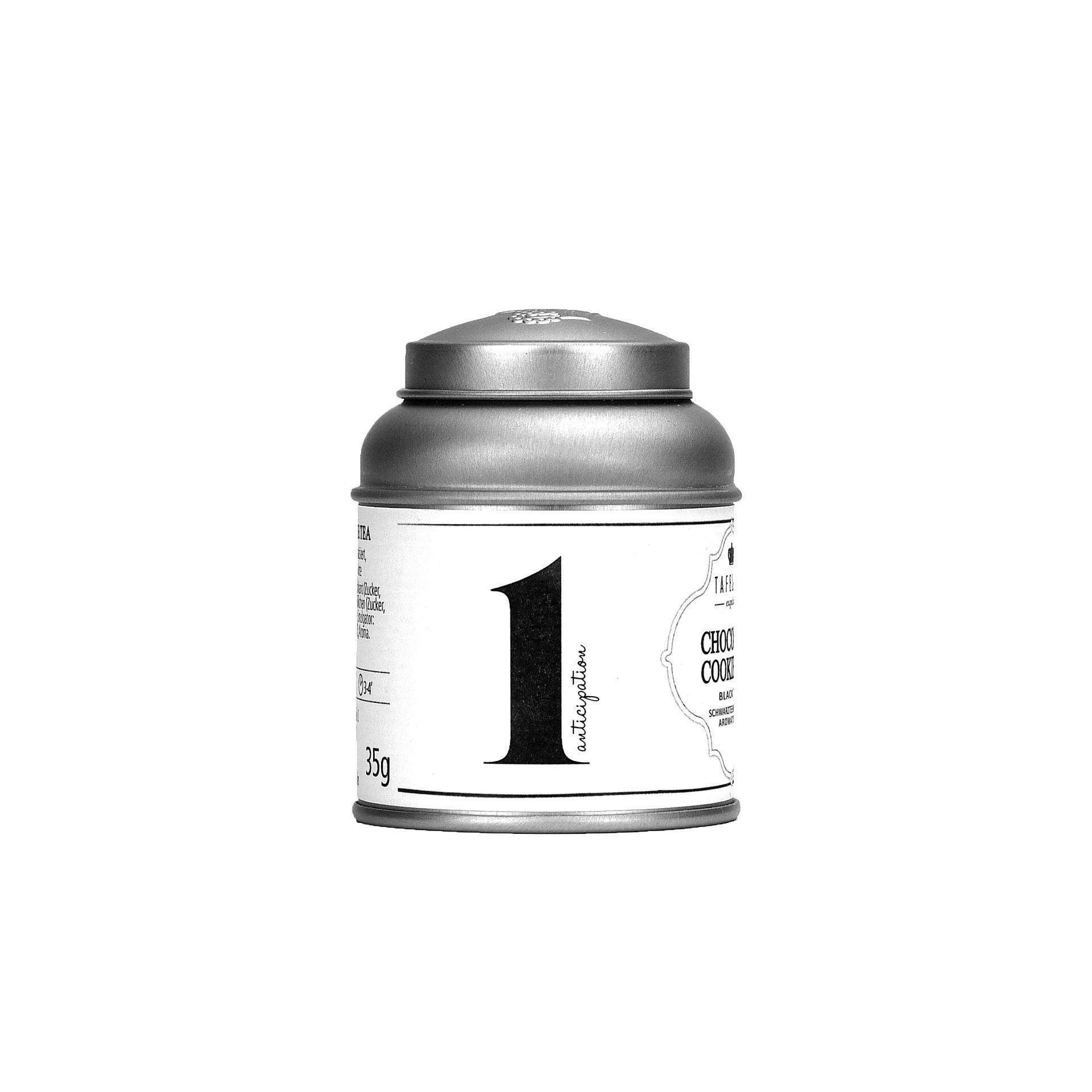 TAFELGUT Mini černý čaj Advent 1 - 35gr, černá barva, bílá barva, kov