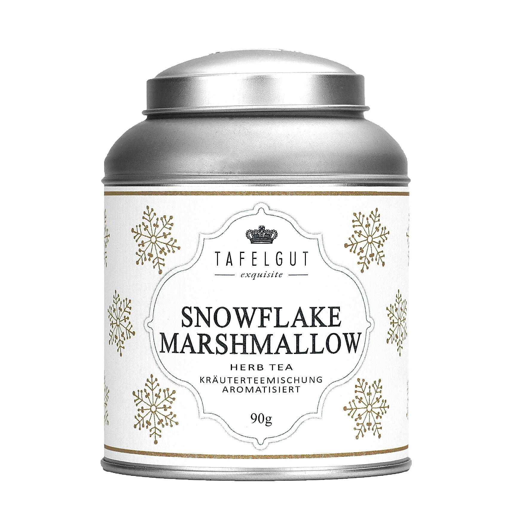 TAFELGUT Bylinný čaj Snowflake marshmallow - 90gr, krémová barva, kov