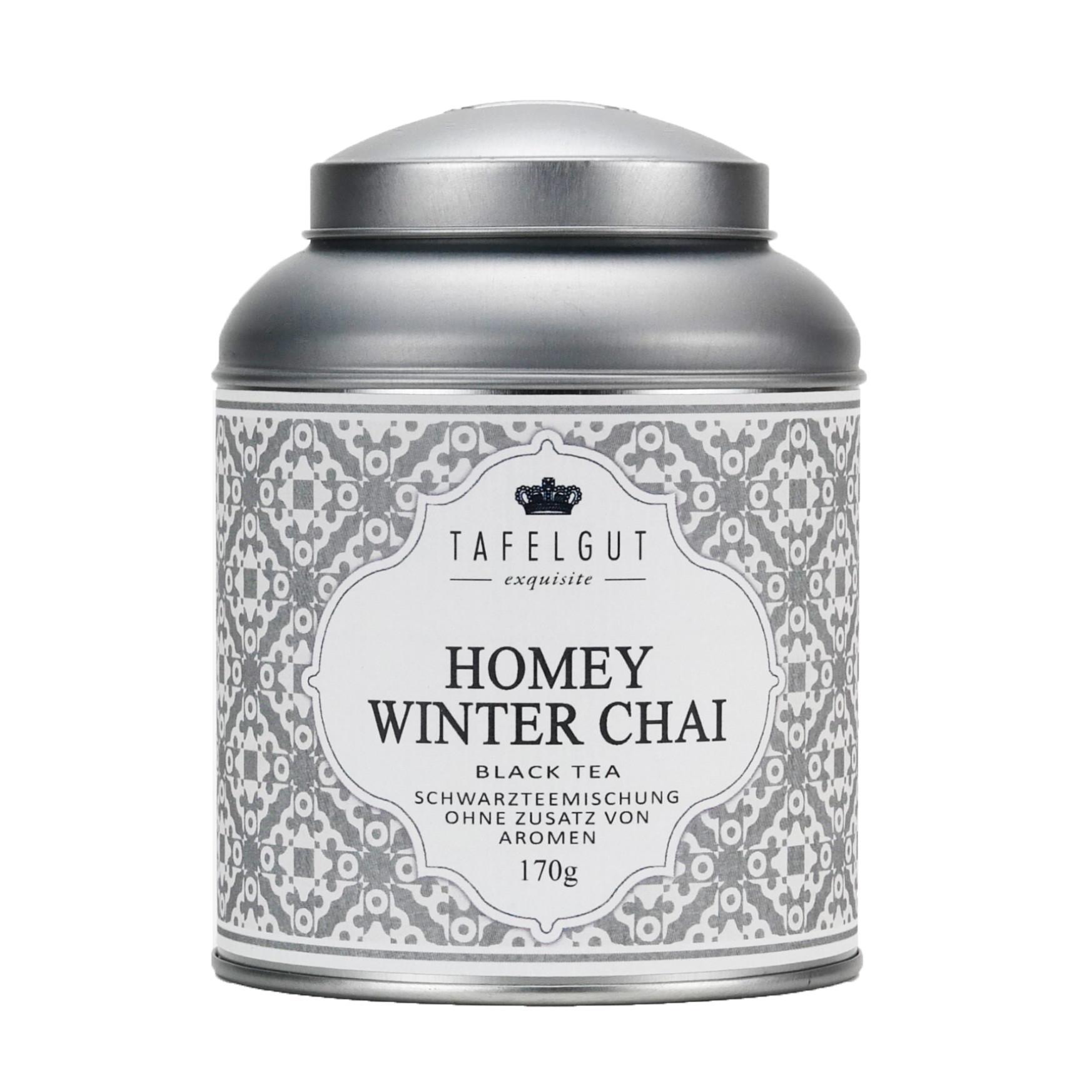 TAFELGUT Černý čaj Homey winter chai - 170gr, šedá barva, kov