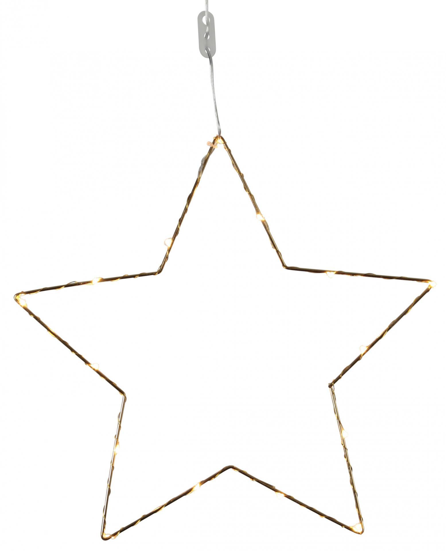 STAR TRADING Kovová svítící hvězda Brass, zlatá barva, kov