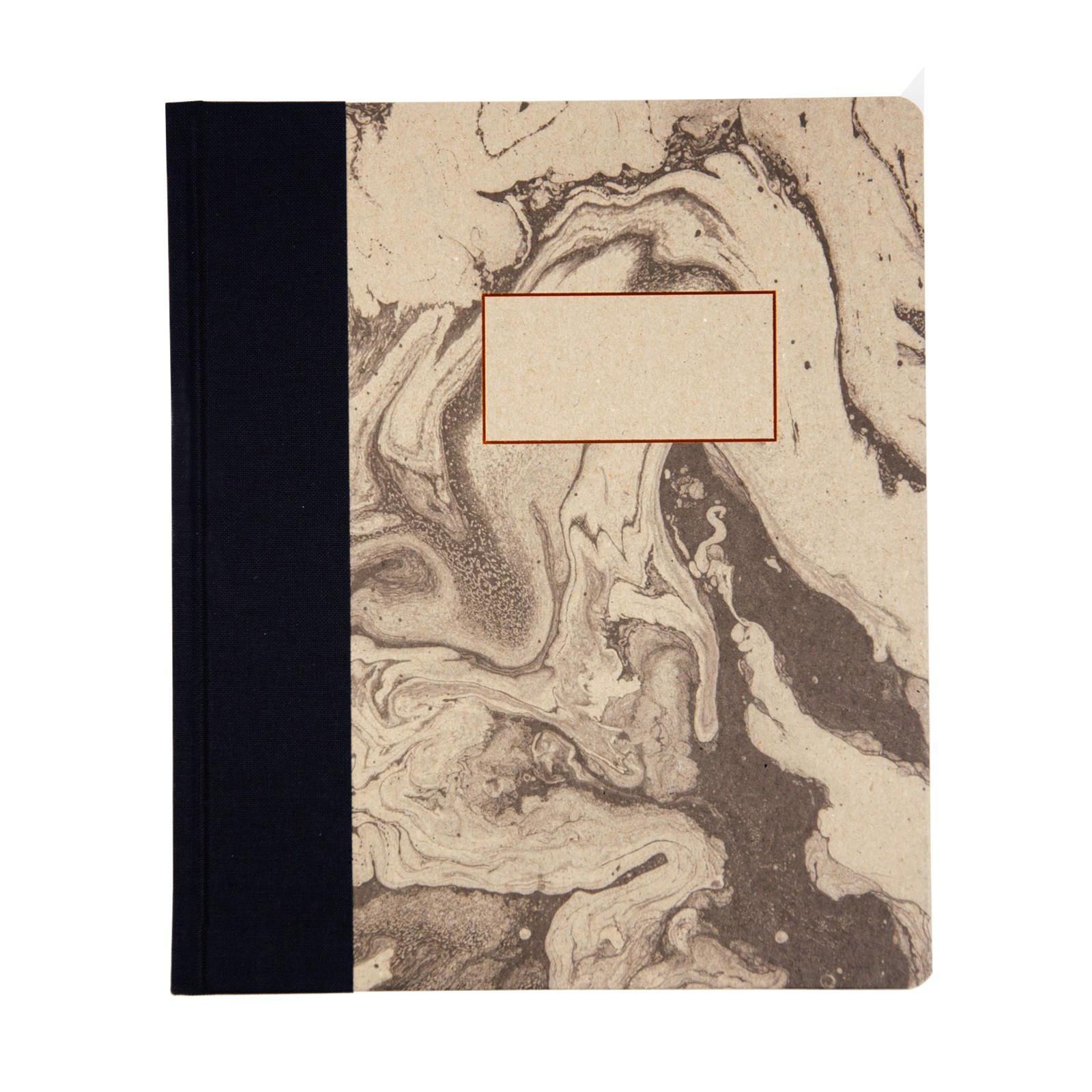 Ohh Deer Notes v pevných deskách Marbling, černá barva, hnědá barva, měděná barva, papír