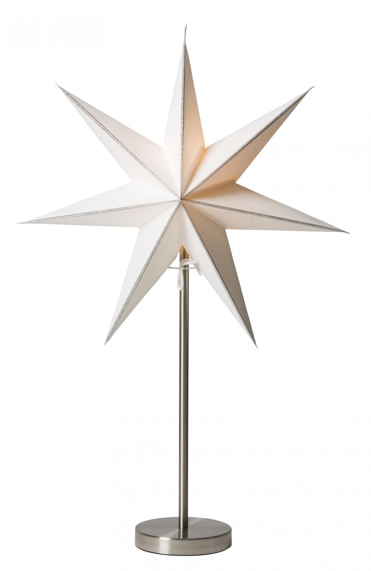 watt & VEKE Stolní lampa Linje Silver/Kalix chrome, bílá barva, stříbrná barva, kov, papír