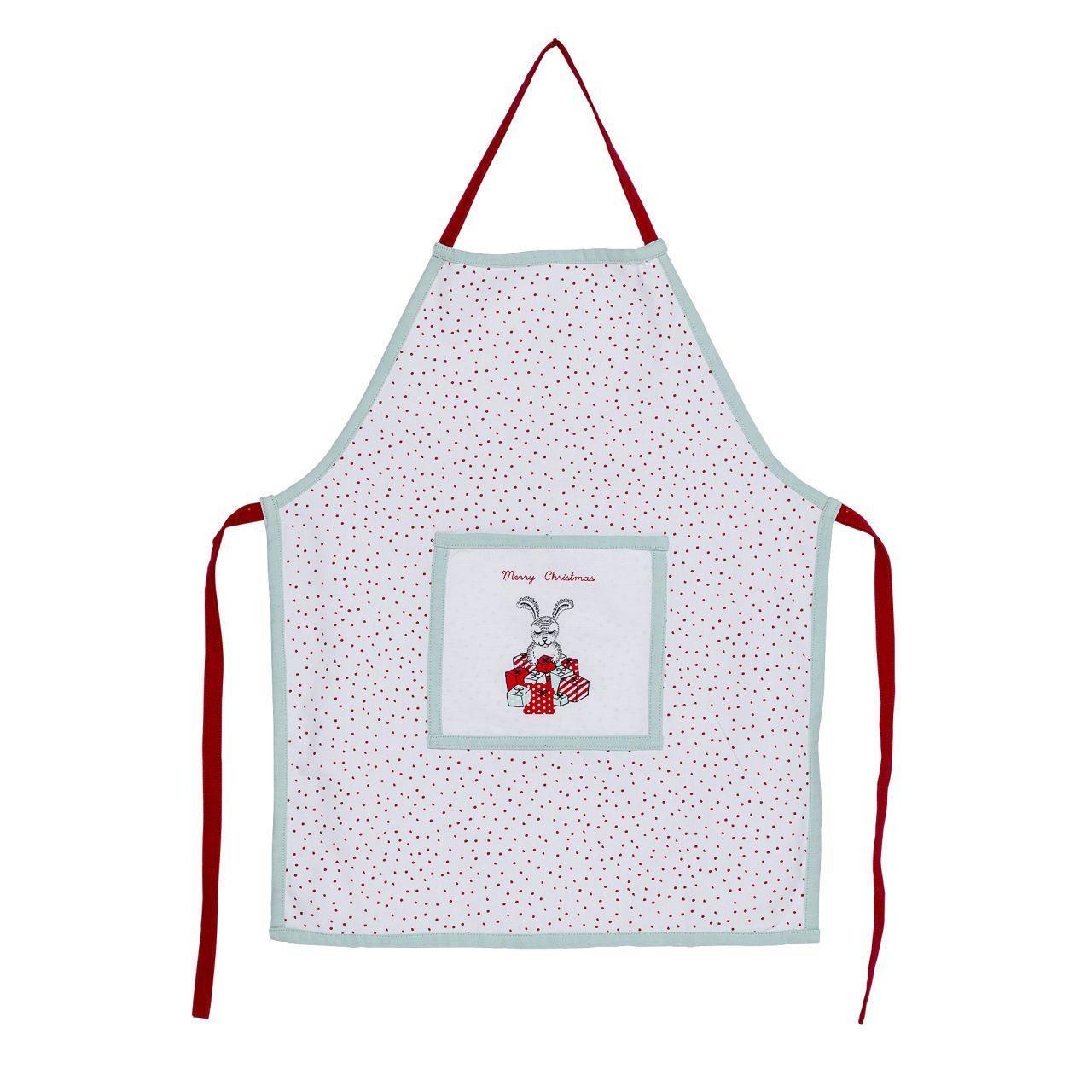 Bloomingville Dětská zástěra Twinkle, červená barva, zelená barva, bílá barva, textil