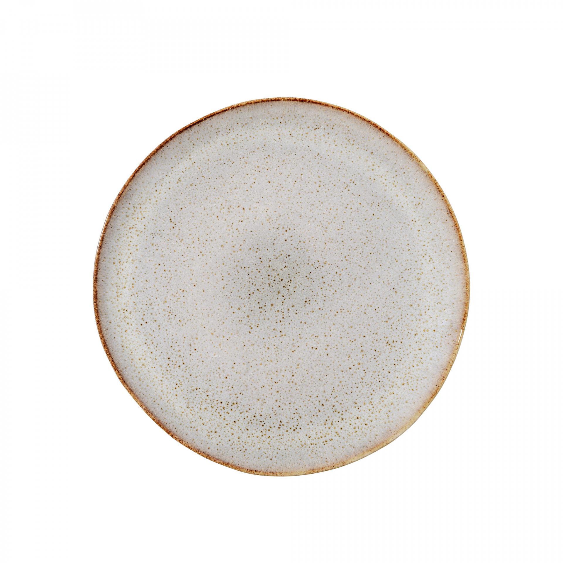 Bloomingville Dezertní talíř Sandrine Light grey, béžová barva, šedá barva, hnědá barva, keramika