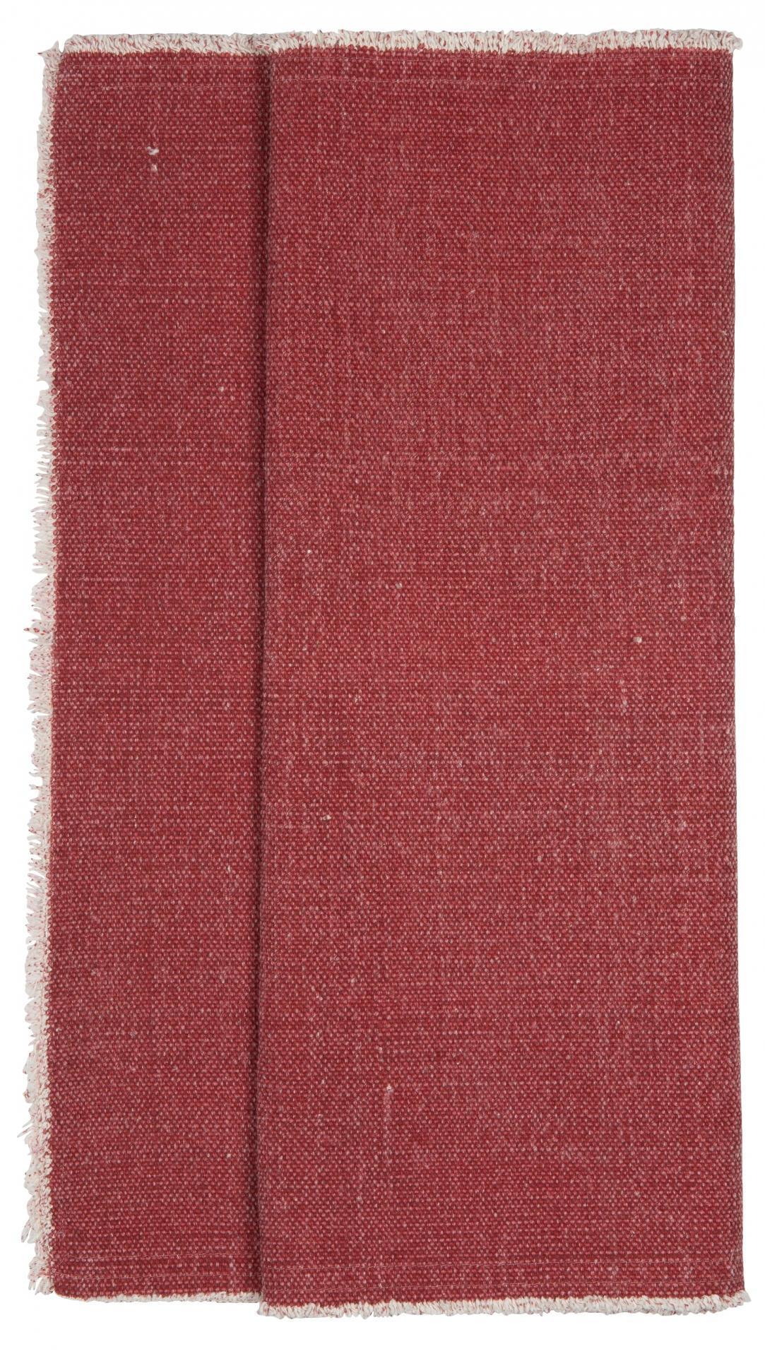 IB LAURSEN Bavlněný běhoun na stůl Red