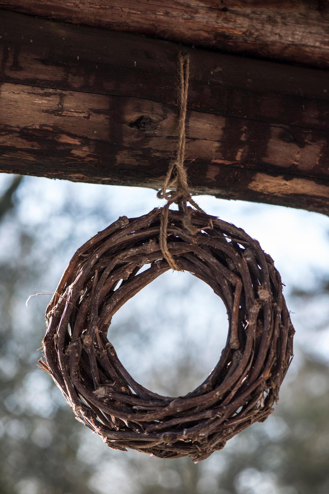 IB LAURSEN Dekorativní věnec z větviček - 25cm, hnědá barva, dřevo