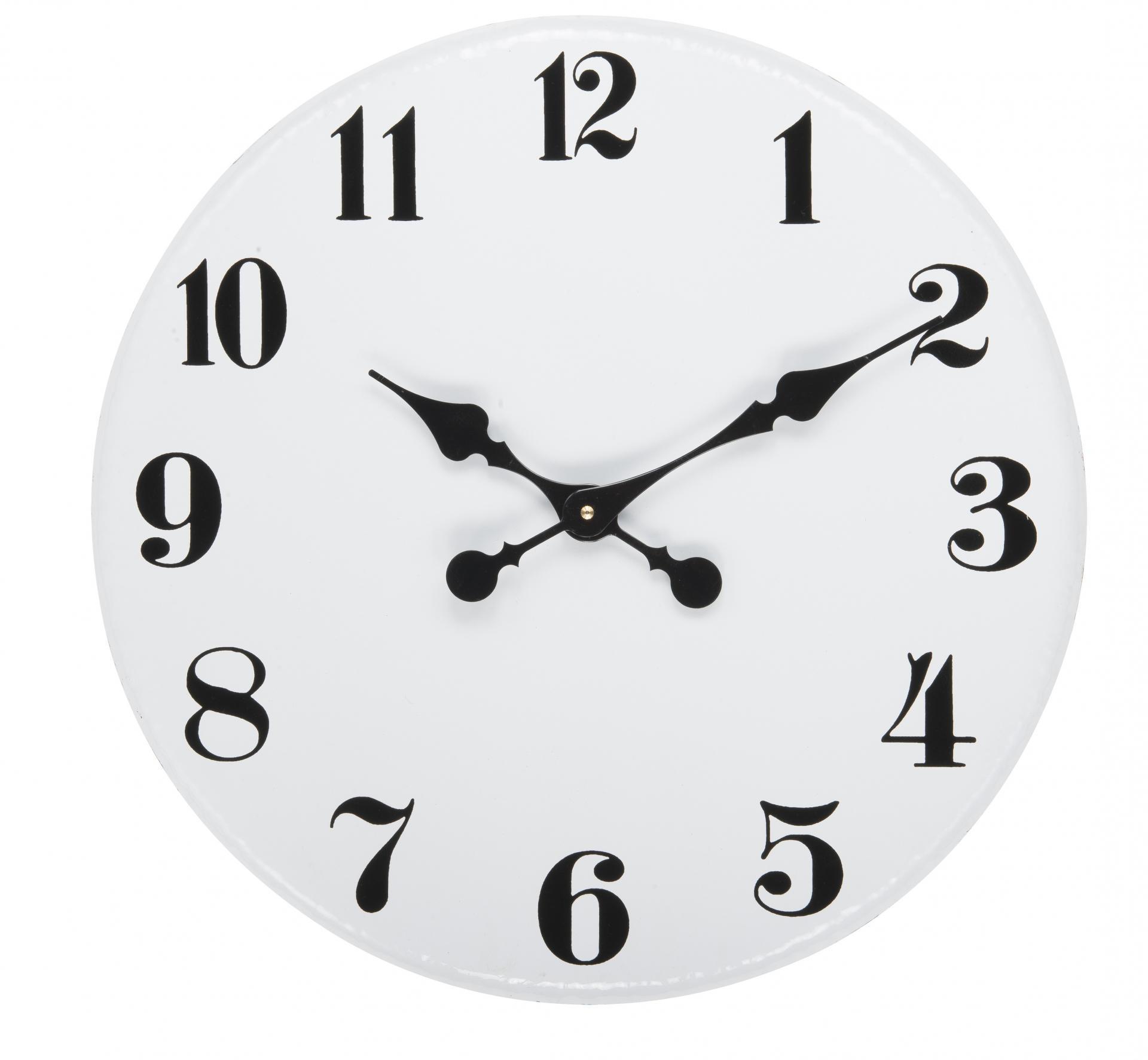 IB LAURSEN Nástěnné kovové hodiny 45,5 cm, černá barva, bílá barva, kov
