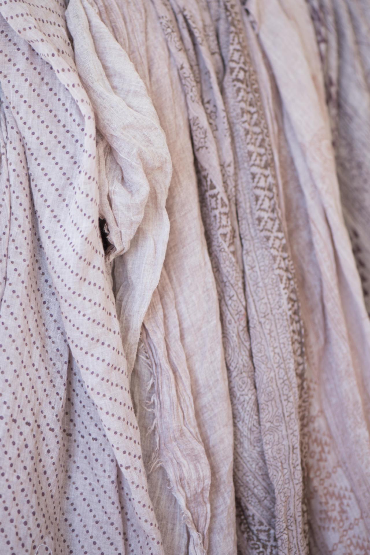 IB LAURSEN Dámský šátek Powder Typ A, růžová barva, textil