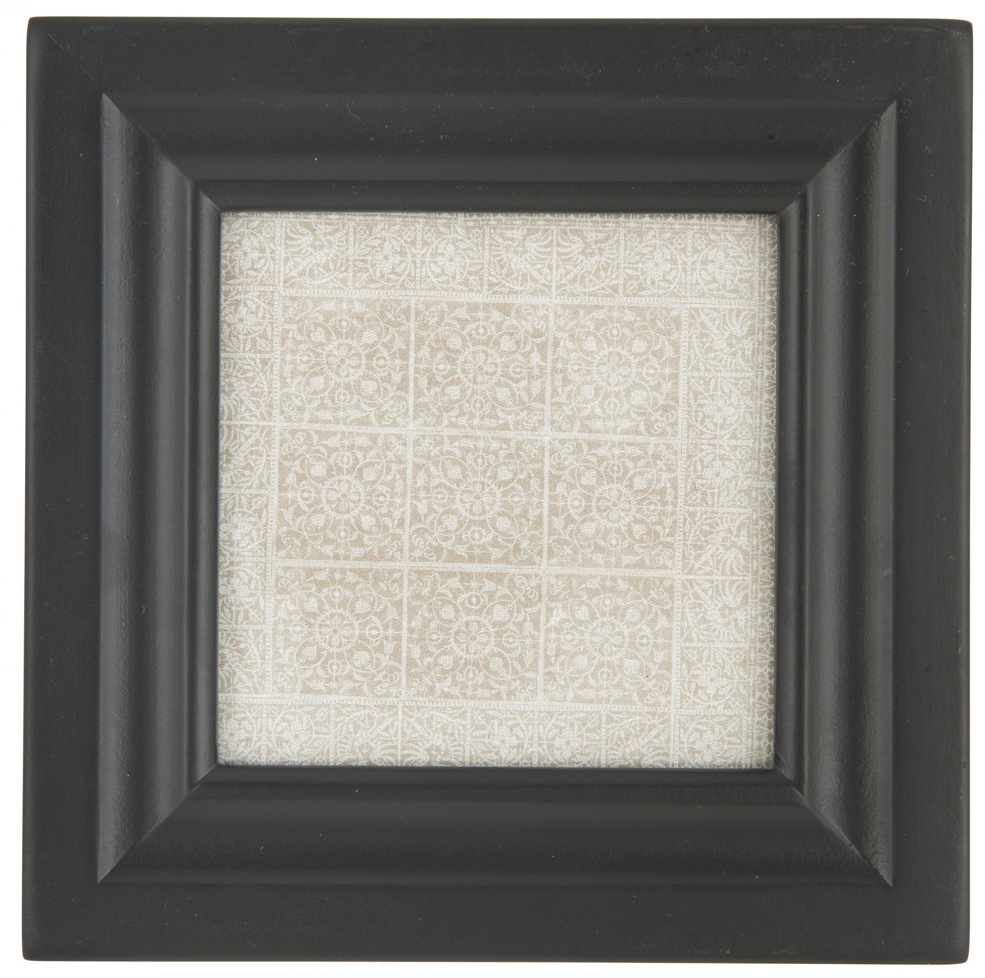 IB LAURSEN Dřevěný rámeček Mix-It Black (foto 9x9 cm), černá barva, dřevo