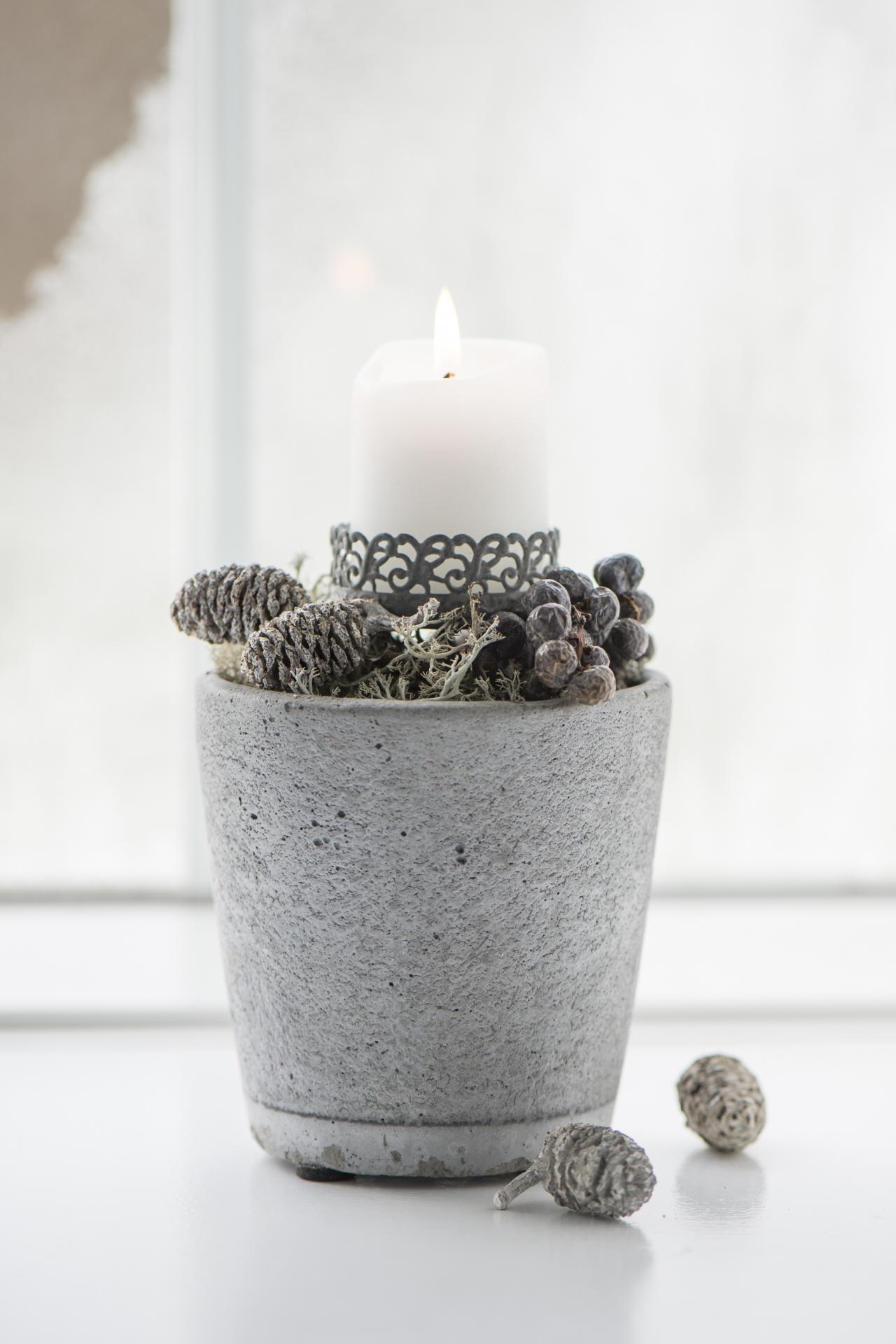 IB LAURSEN Betonový květník Concrete S, šedá barva, beton