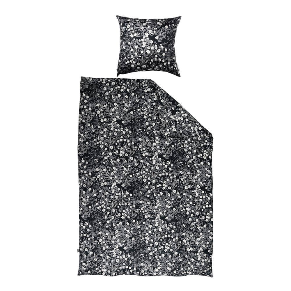 DESIGN LETTERS Povlečení pro miminka Windflower, černá barva, textil