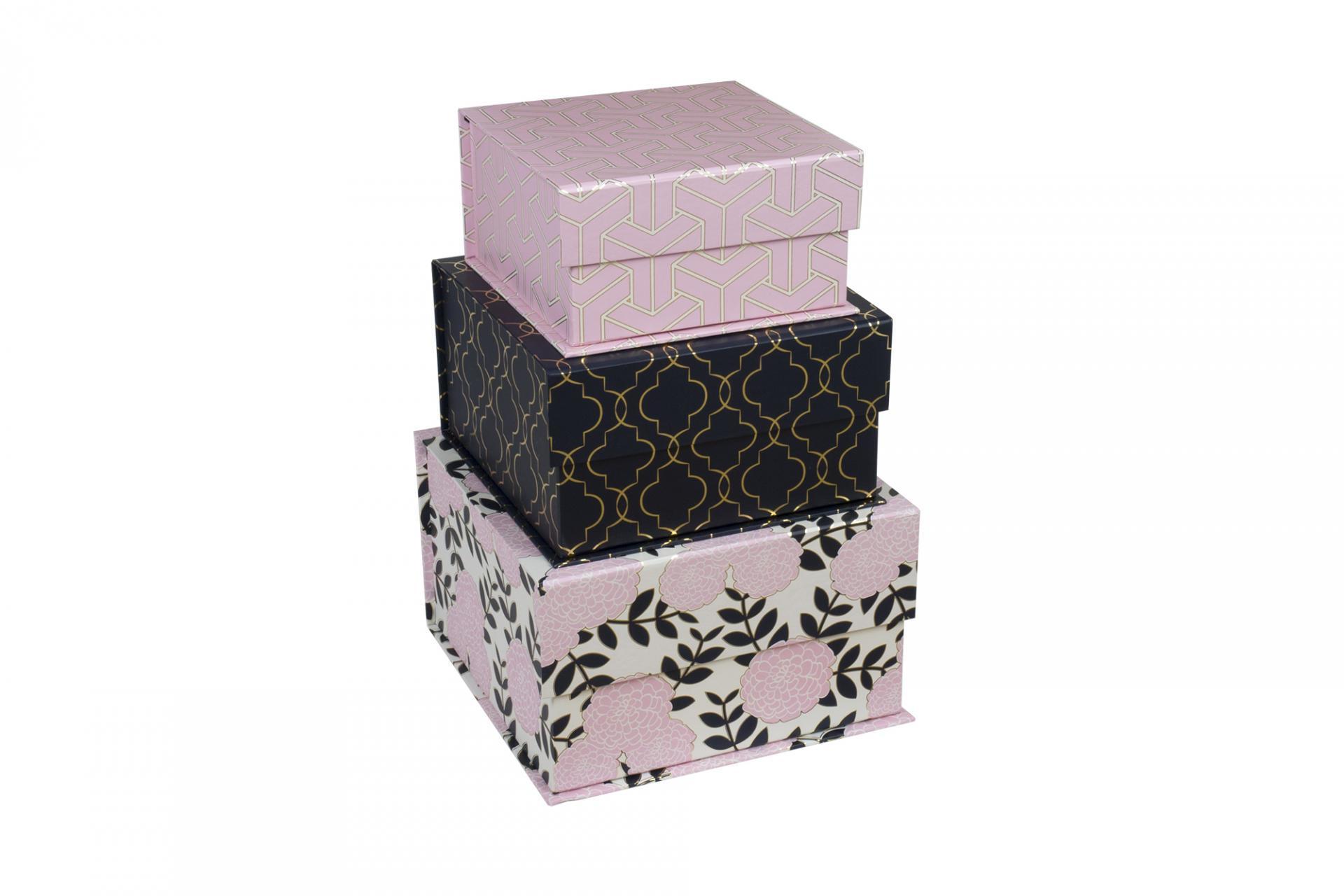 TRI-COASTAL DESIGN Papírový box Adrienne Velikost S, růžová barva, modrá barva, papír