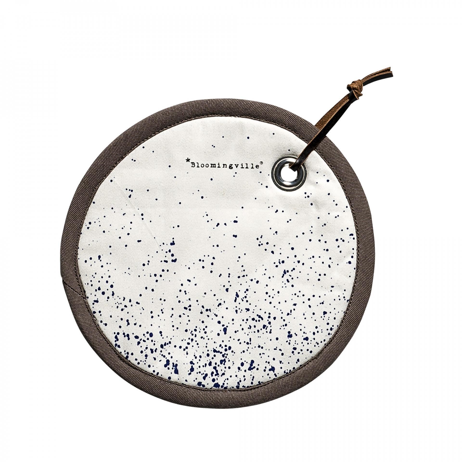 Bloomingville Podložka pod hrnec White/Royal Blue, multi barva, textil