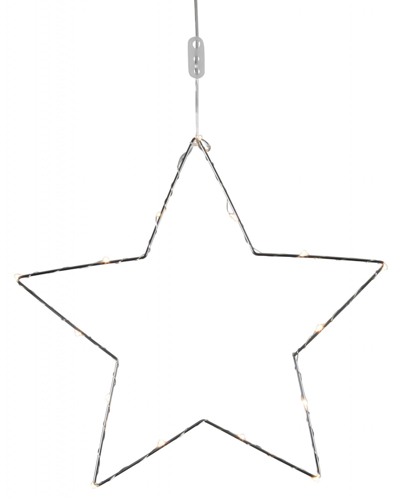 STAR TRADING Kovová svítící hvězda Chrome, stříbrná barva, kov