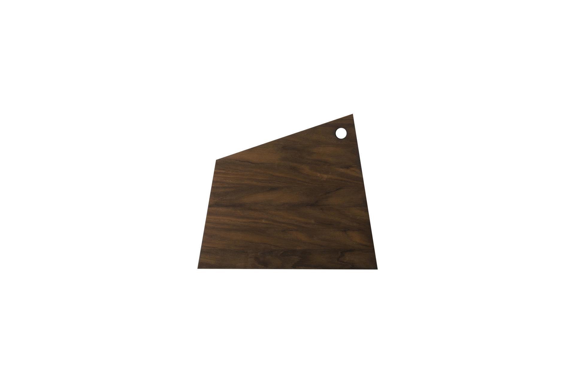 ferm LIVING Dřevěné prkénko Asymmetric Oak L, hnědá barva, přírodní barva, dřevo