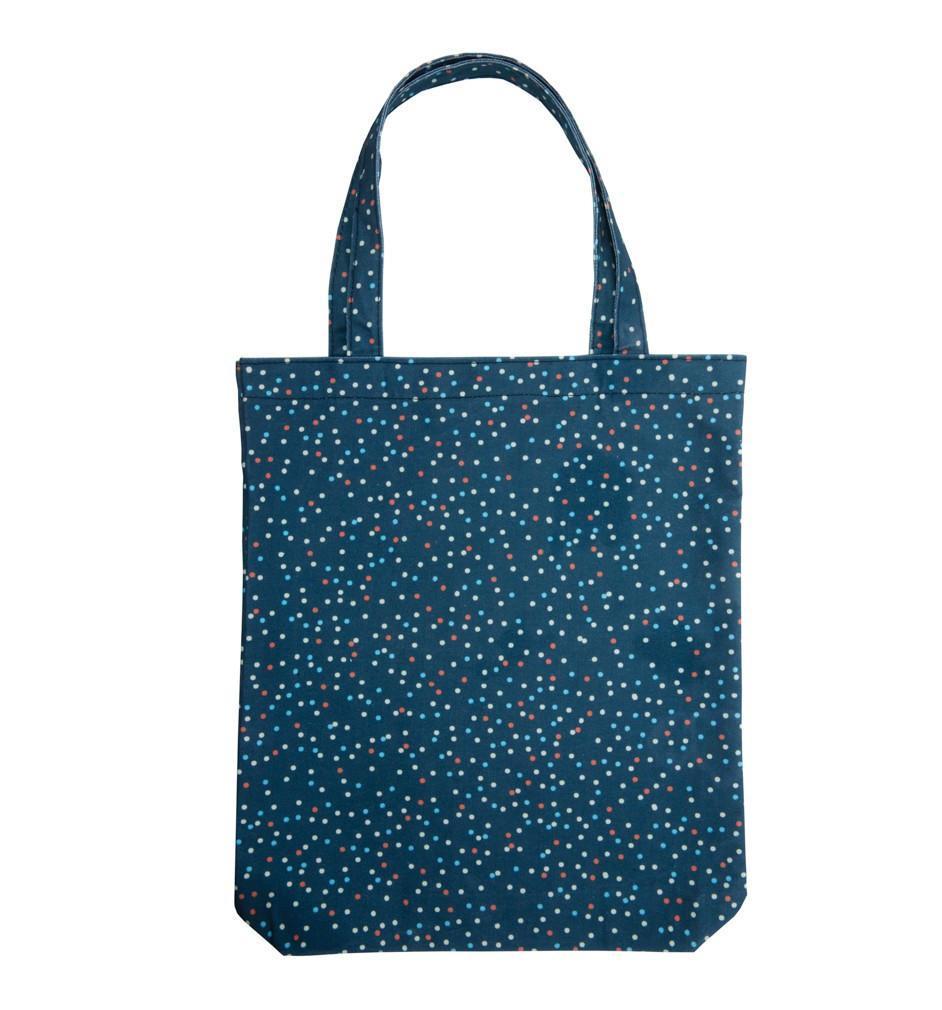 Busy B Bavlněná nákupní taška Spotty, modrá barva, textil