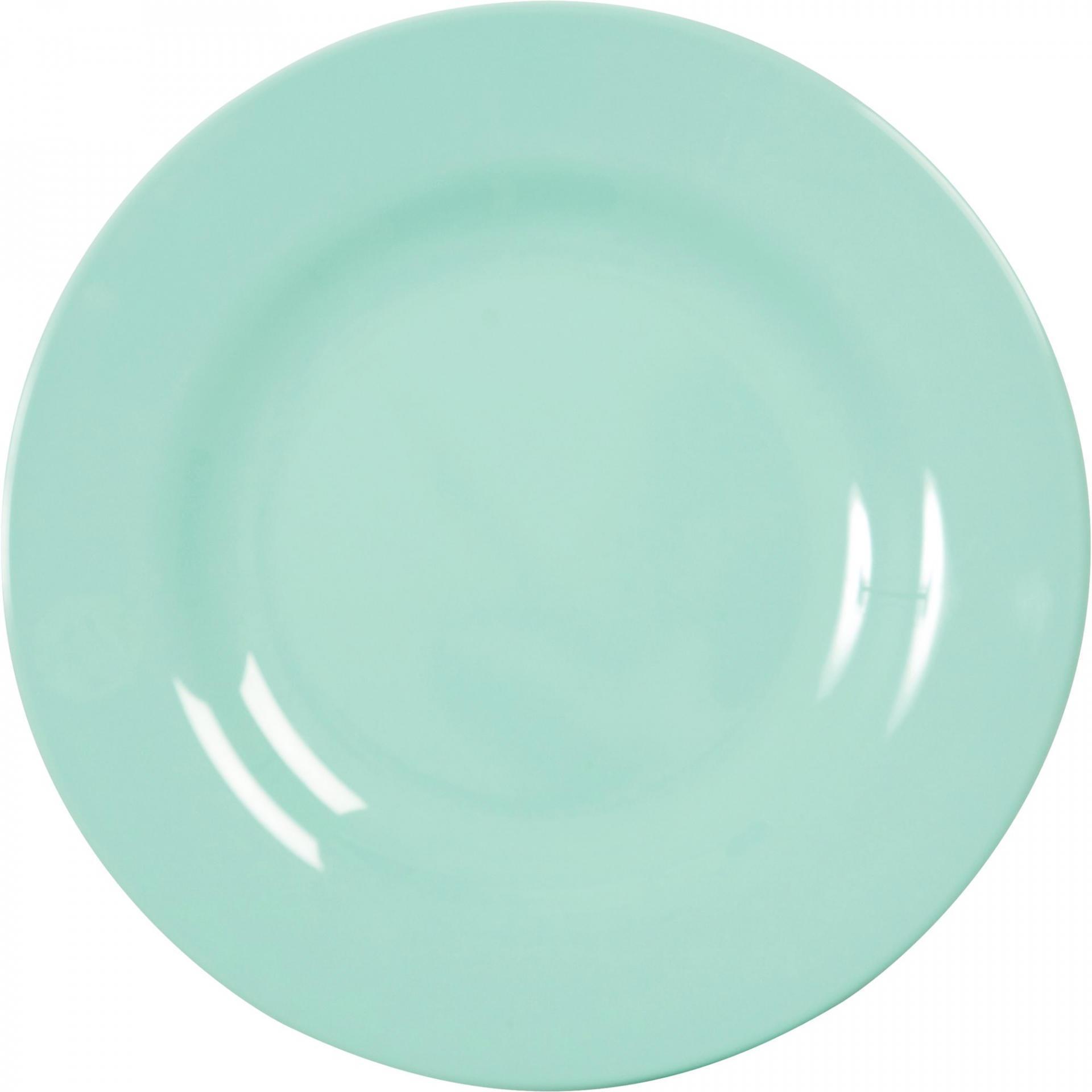 Rice Melaminový talíř Dark Mint - větší
