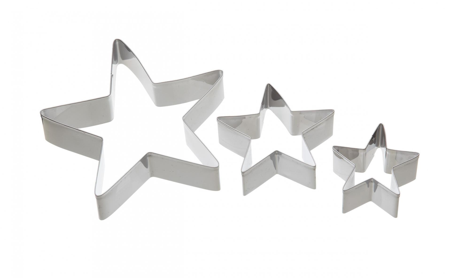 Kitchen Craft Nerez vkrajovátka Star - 3 ks