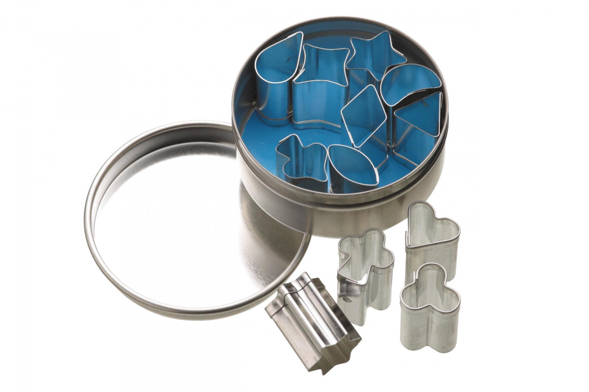 Kitchen Craft Mini vykrajovátka v dózičce - 12 ks, stříbrná barva, kov