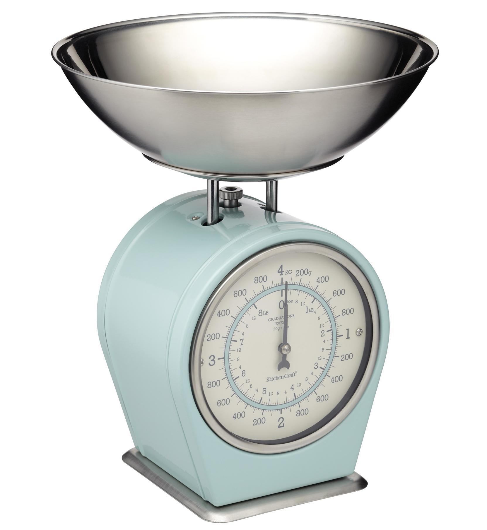 Kitchen Craft Mechanická kuchyňská váha Vintage blue - 4 kg
