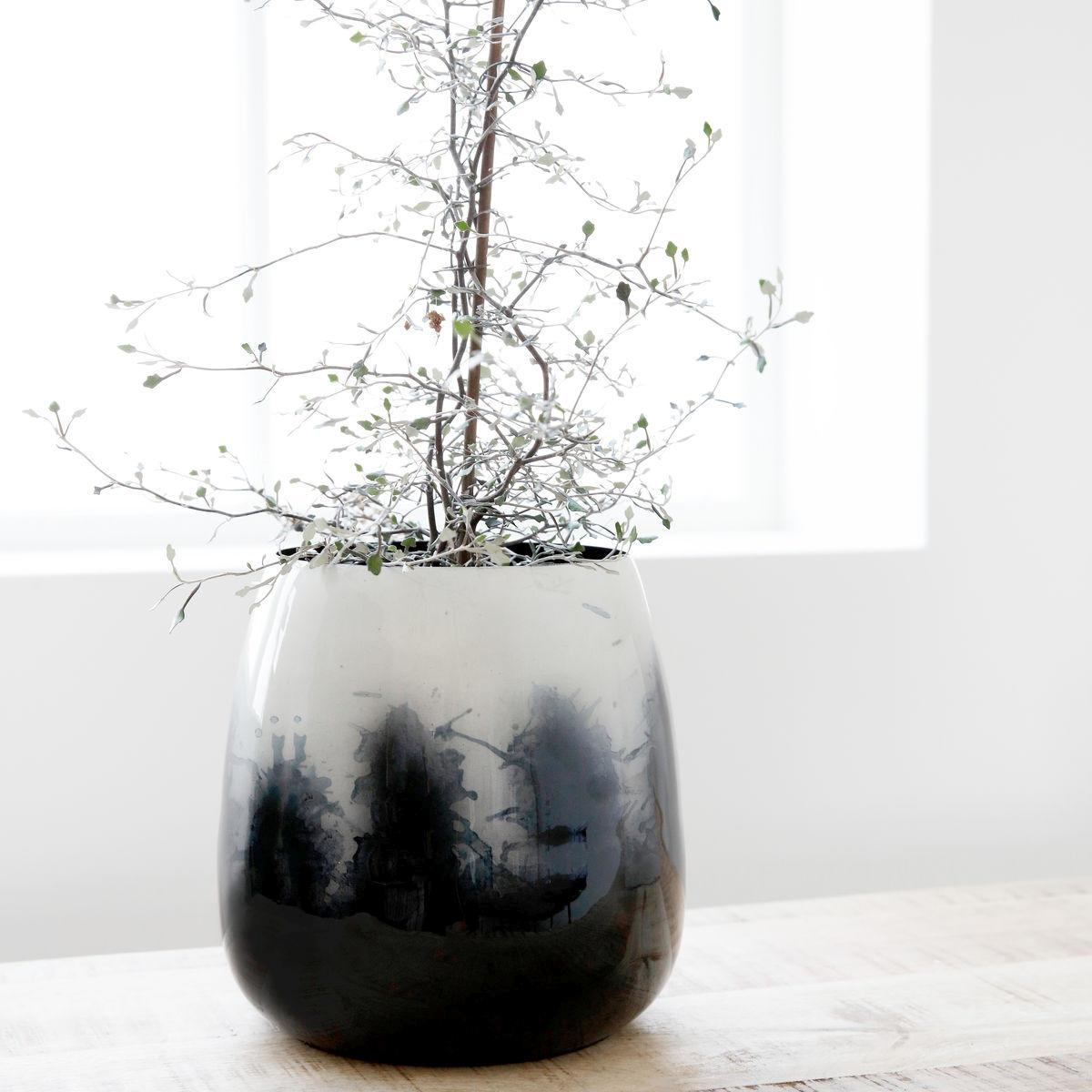 House Doctor Kovový květináč/váza Effects, modrá barva, kov