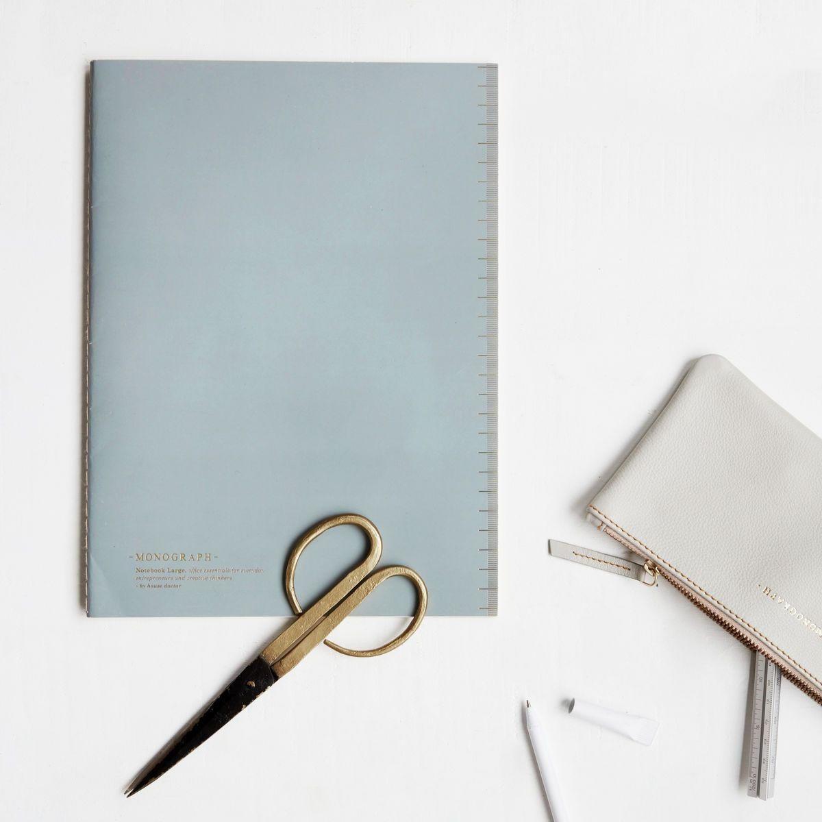 MONOGRAPH Linkovaný sešit Soft Grey A4, šedá barva, papír