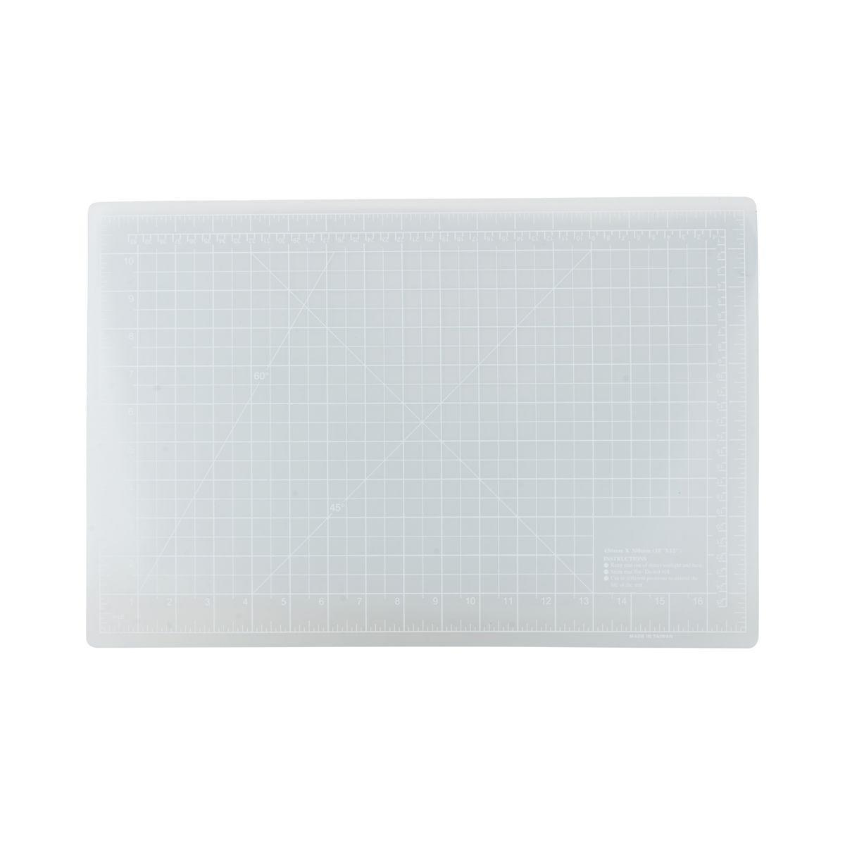 MONOGRAPH Řezací podložka Monograph 30x45 cm, modrá barva, šedá barva, plast
