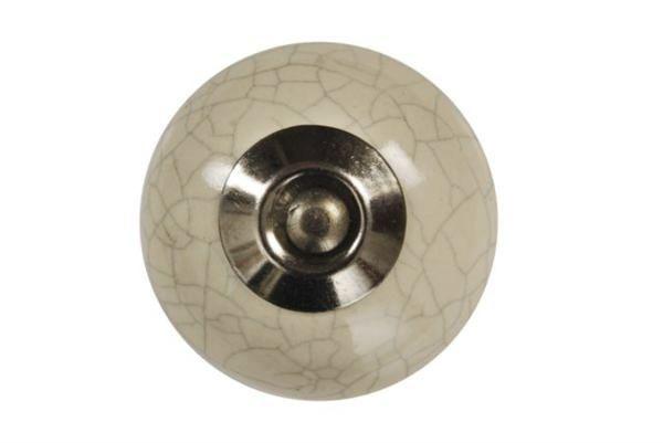 La finesse Porcelánová úchytka mramor - krémová menší, béžová barva, šedá barva, porcelán 30 mm