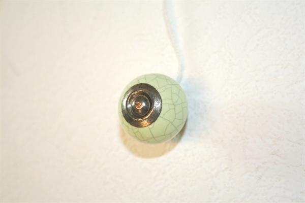 La finesse Porcelánová úchytka mramor - zelená menší, zelená barva, porcelán 30 mm