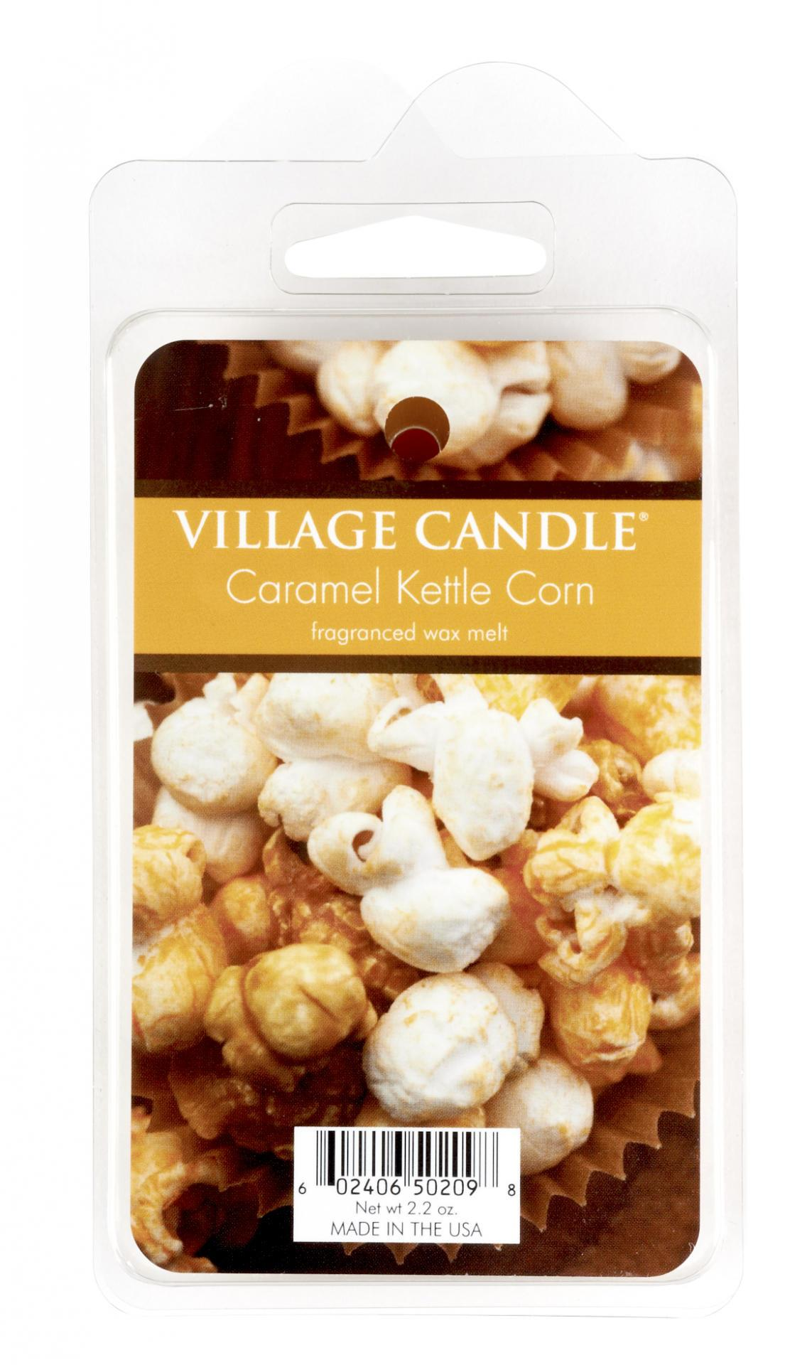 VILLAGE CANDLE Vosk do aromalampy Caramel Kettle Corn, hnědá barva