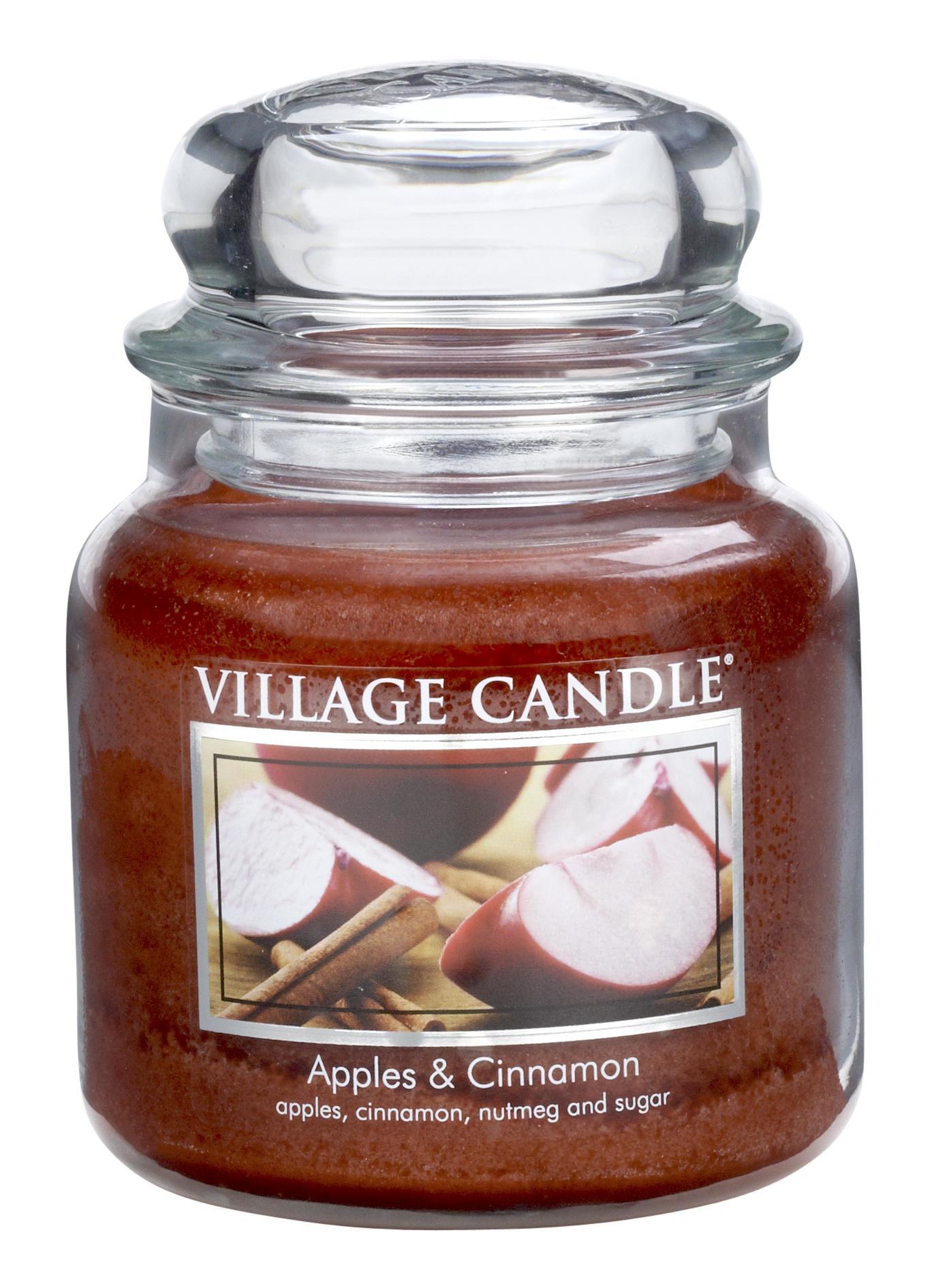 Village Candle Svíčka ve skle Apple Cinnamon - střední