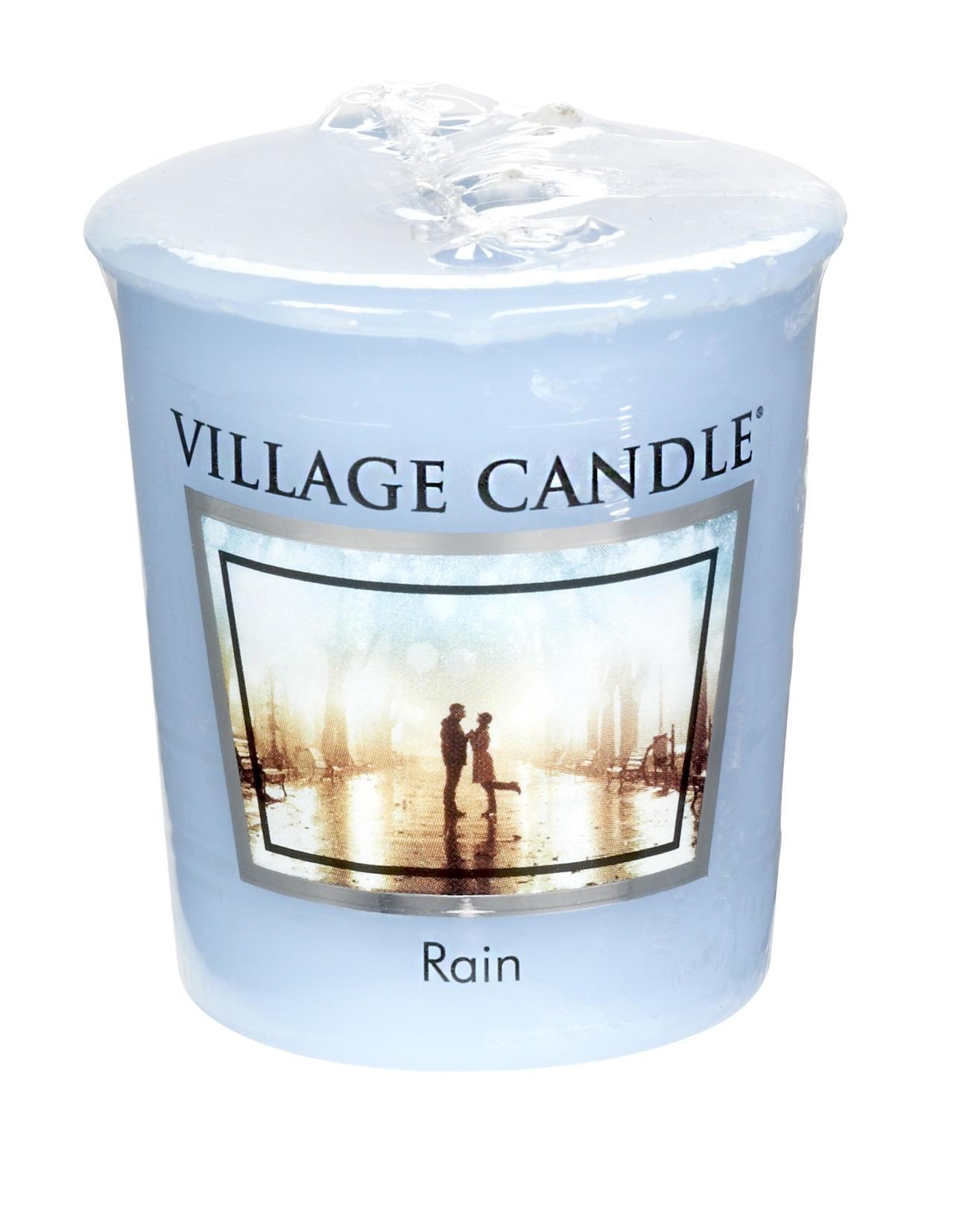 VILLAGE CANDLE Votivní svíčka Village Candle - Rain, modrá barva, vosk