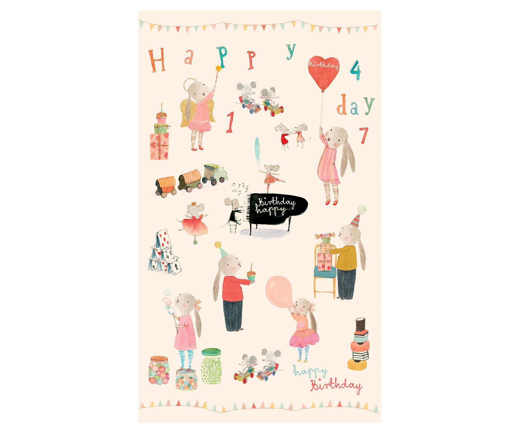 Maileg Dárkový balicí papír Maileg Happy Day - 10m