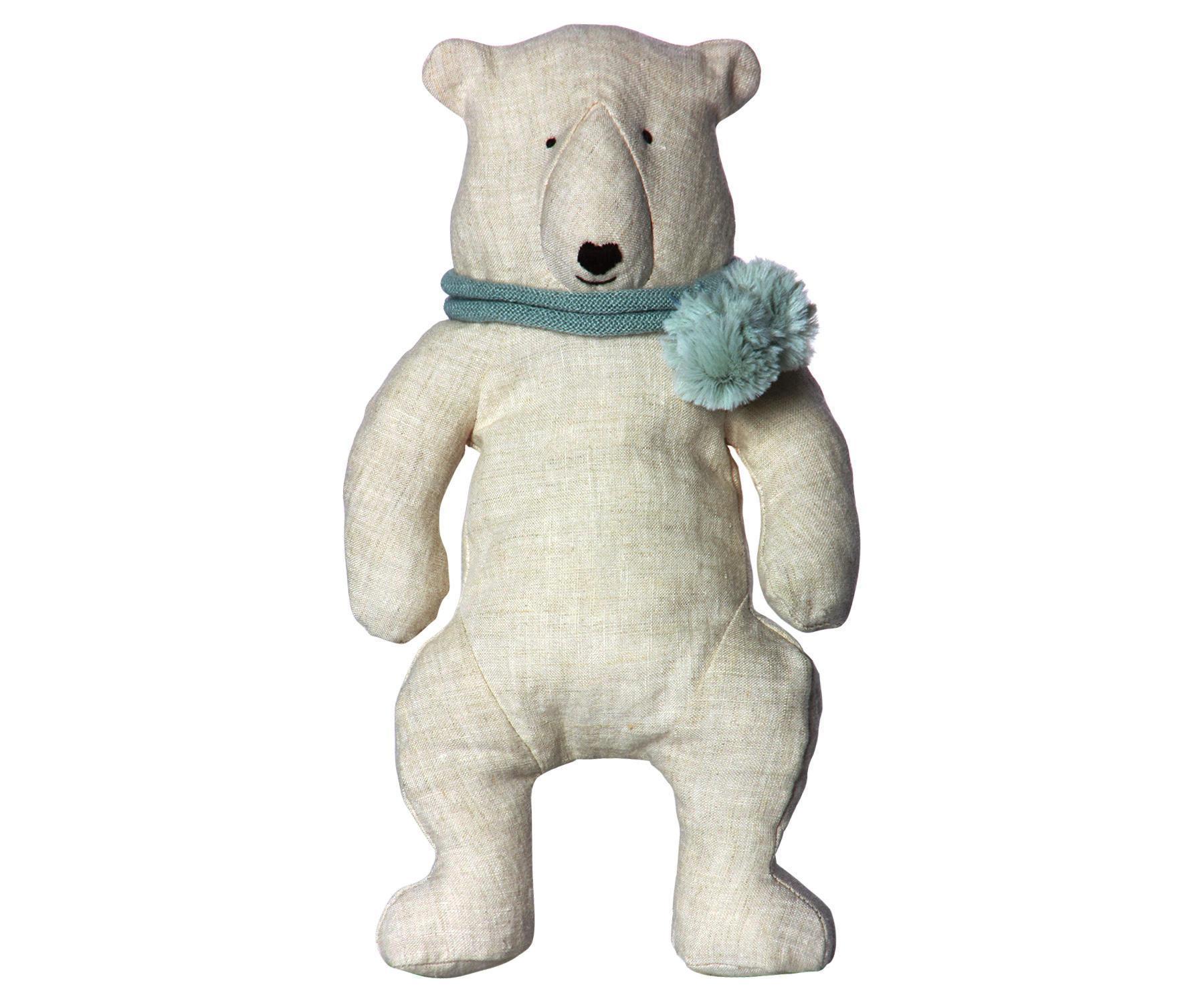 Maileg Lední medvěd Bjørn, béžová barva, textil