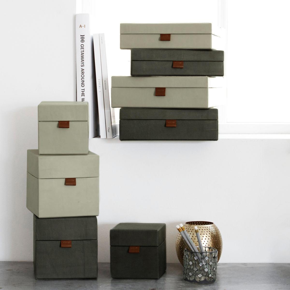 MONOGRAPH Úložný box na dokumenty Dark grey/Beige Béžový - menší, béžová barva, šedá barva, papír